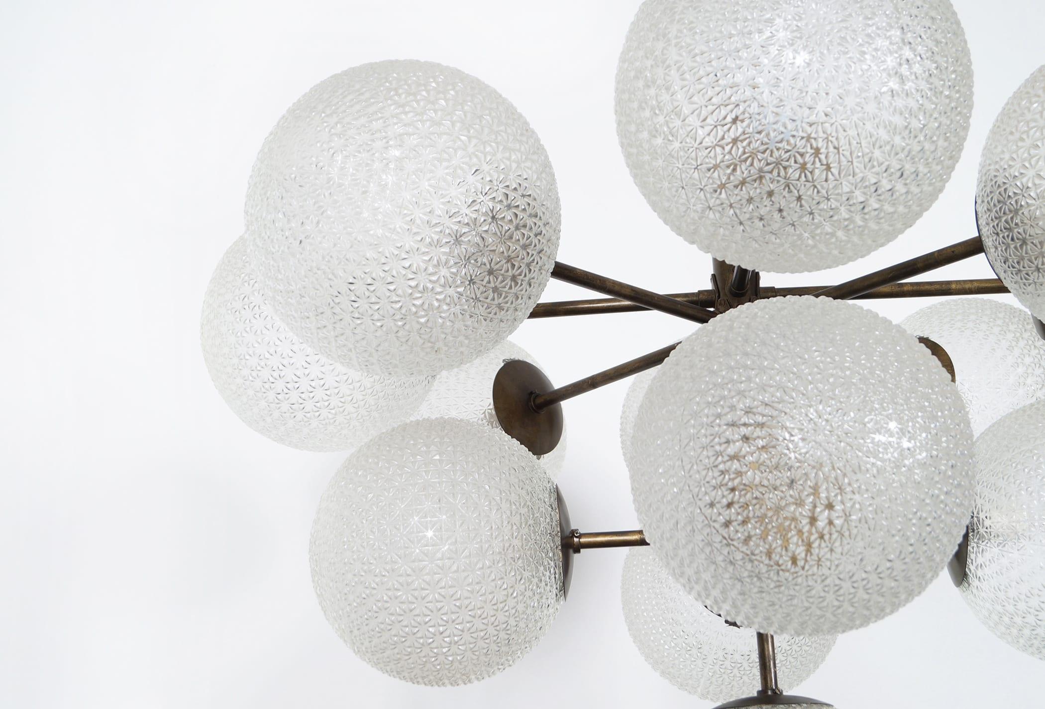 Monumental Glass Globes Chandelier