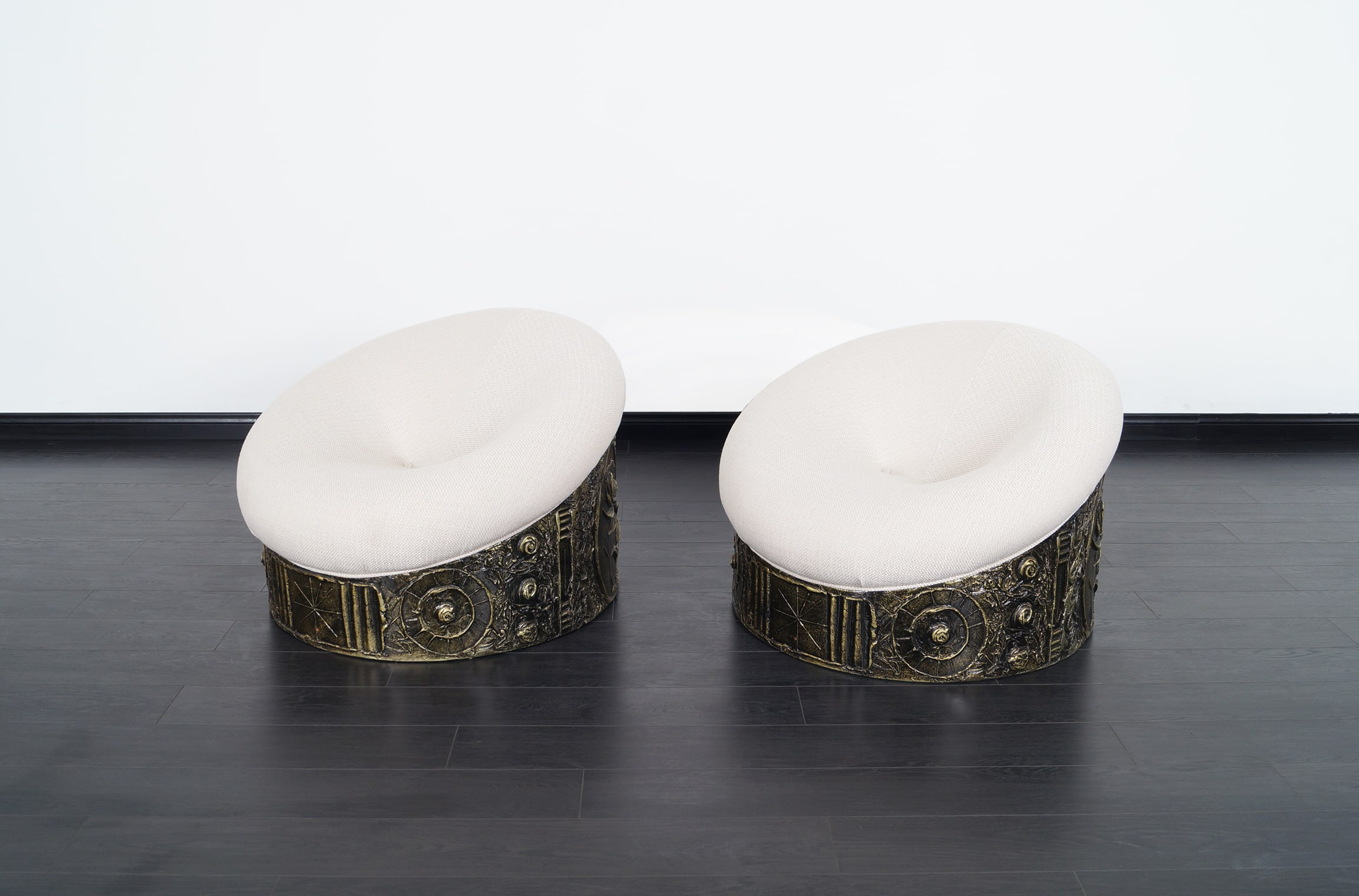 Vintage Brutalist Lounge Chairs by Adrian Pearsall