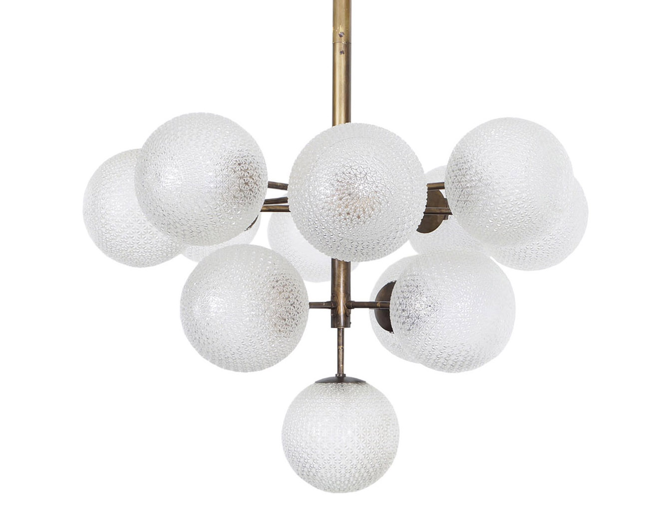 Monumental Glass Globes Chandelier