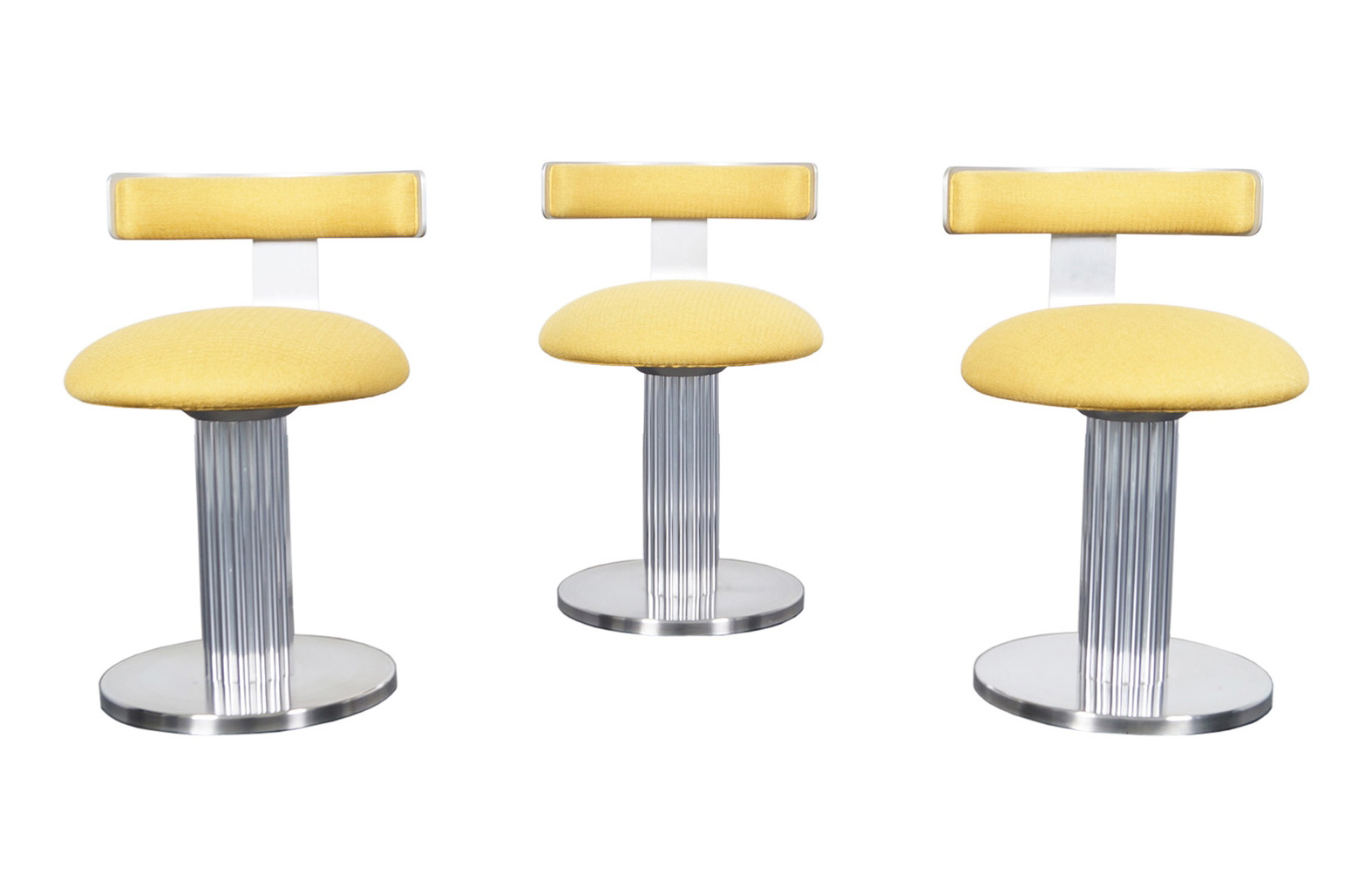 Vintage Chrome Swivel Stools by Design for Leisure