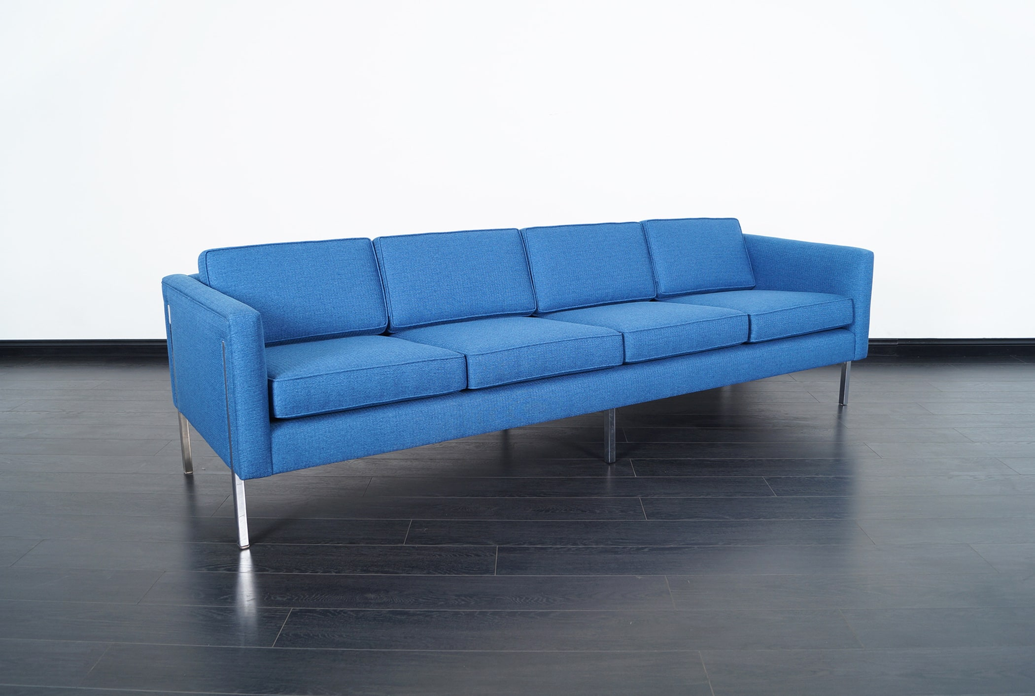 Mid Century Modern Chrome Sofa