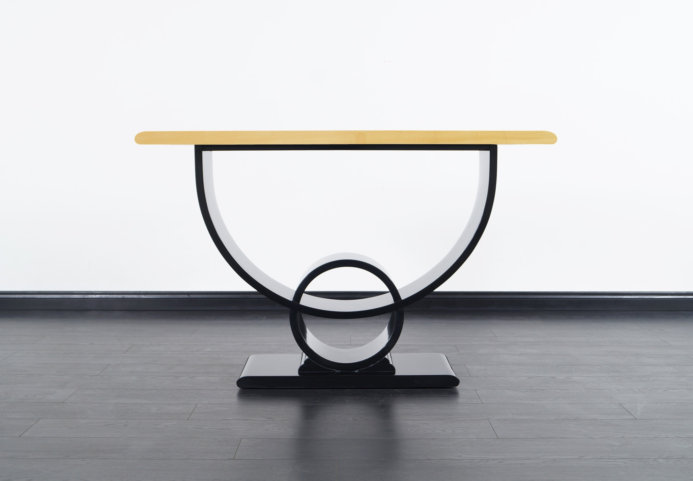 Art Deco Gold Leaf Console Table