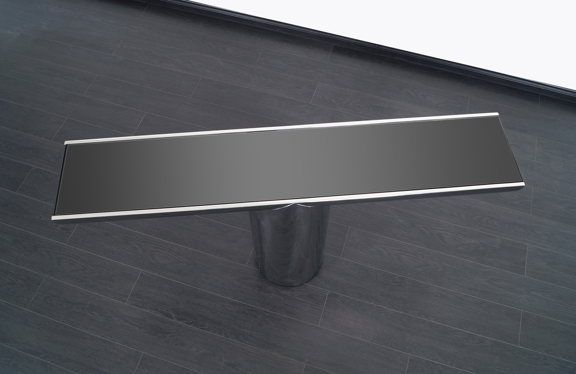 Vintage Stainless Steel Tee Console Table by Brueton
