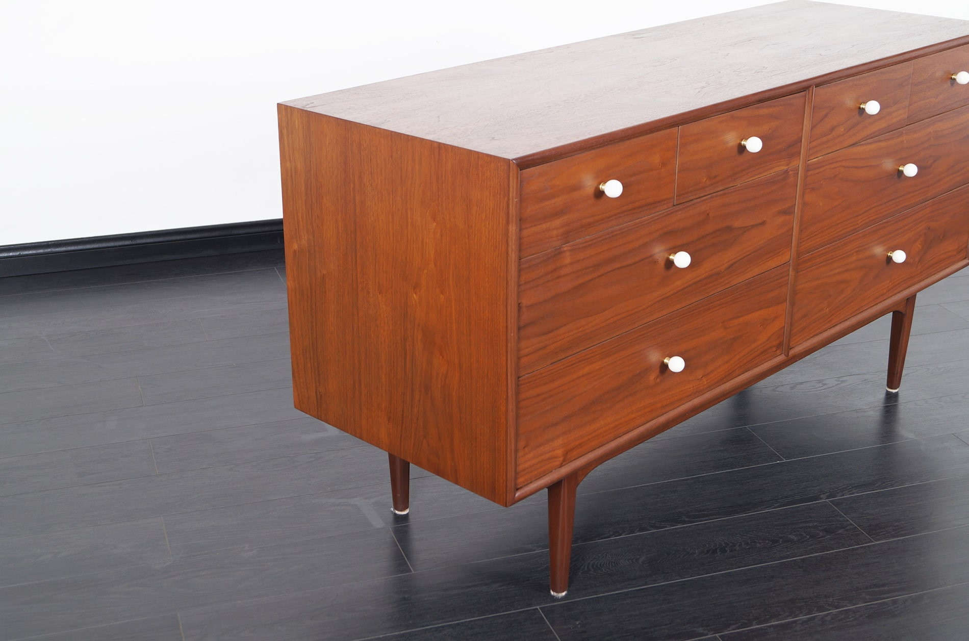 Vintage Walnut Dresser by Kipp Stewart for Drexel