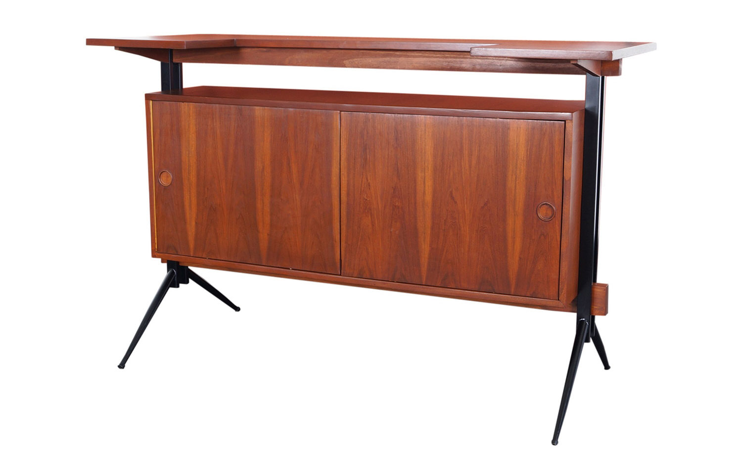 Mid Century Modern Walnut Bar