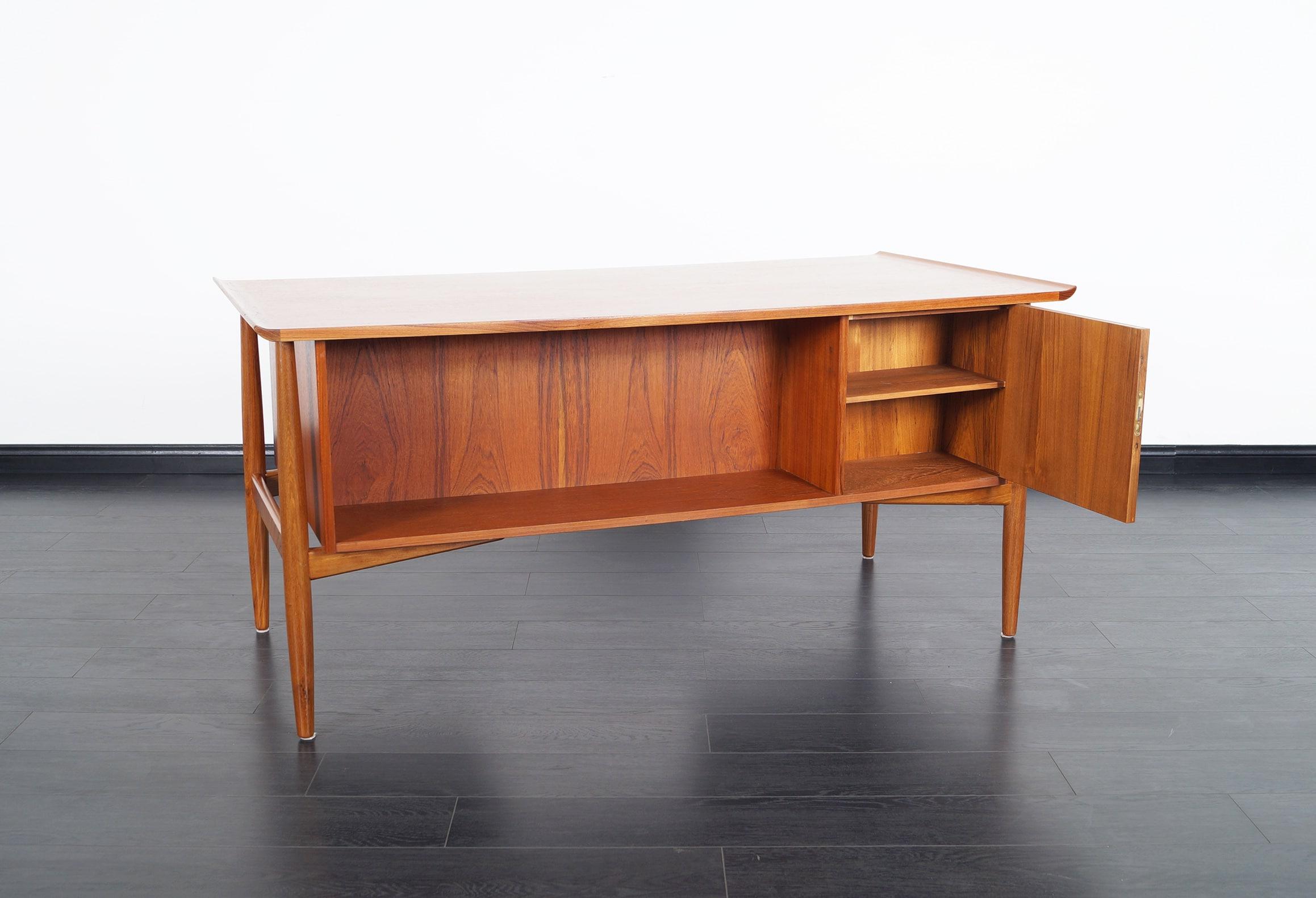 Danish Modern Teak Desk by Arne Vodder