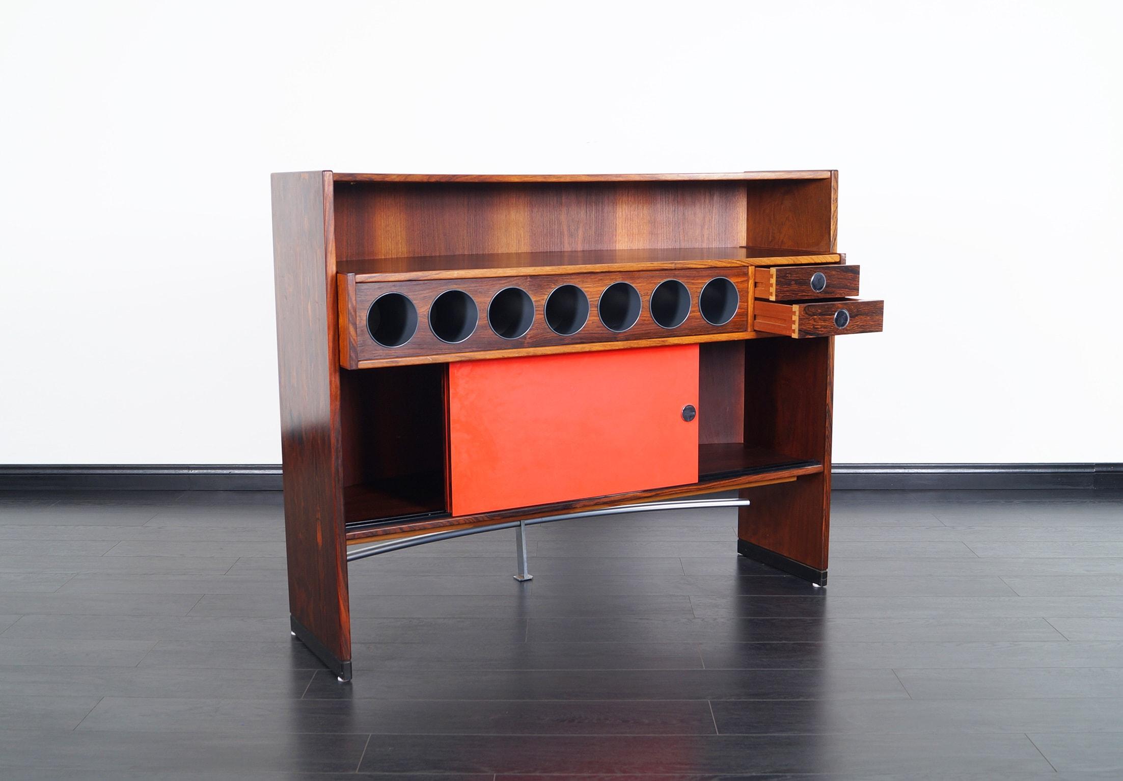 Danish Rosewood Luxury Dry Bar by Dyrlund