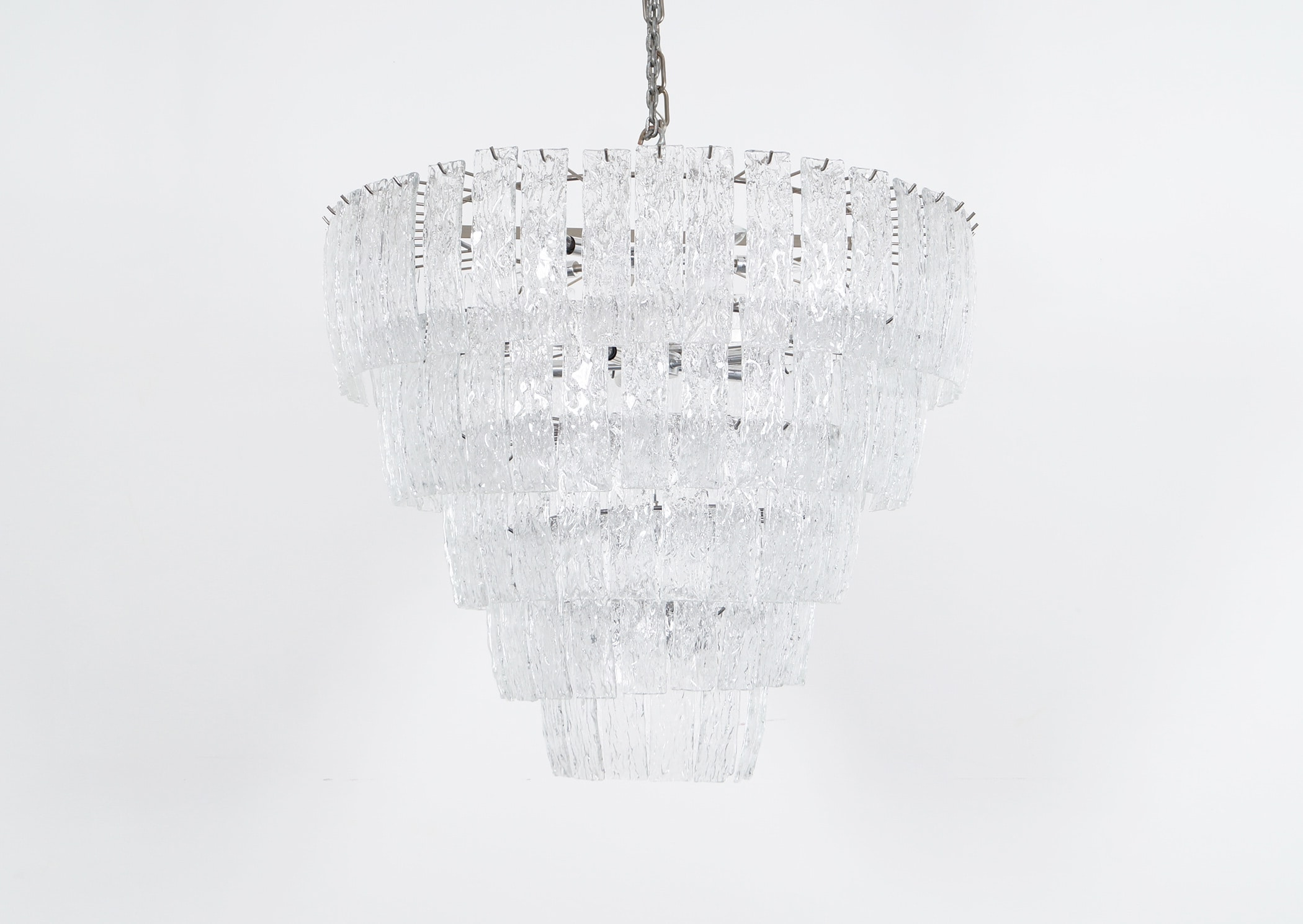 Exceptional Italian Murano Glass Chandelier