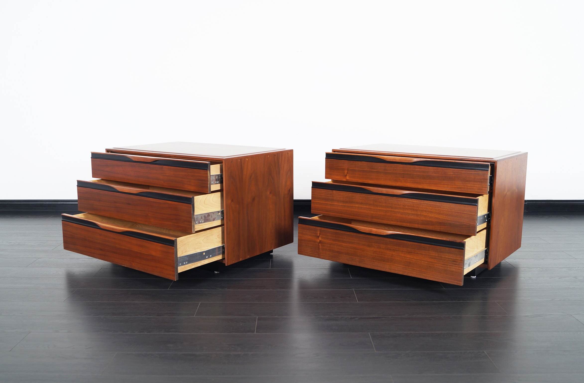 Mid Century Walnut Chest of Drawers by John Kapel