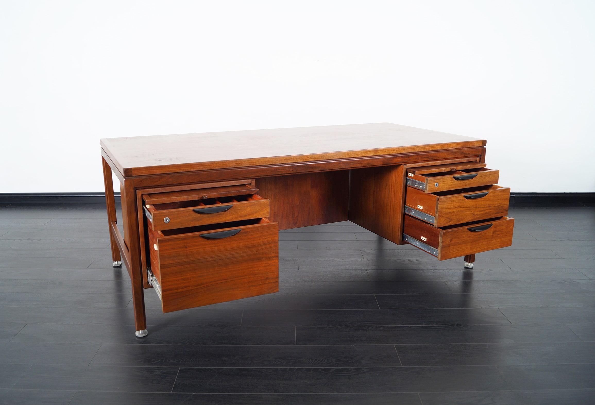 Mid Century Executive Desk by Jens Risom