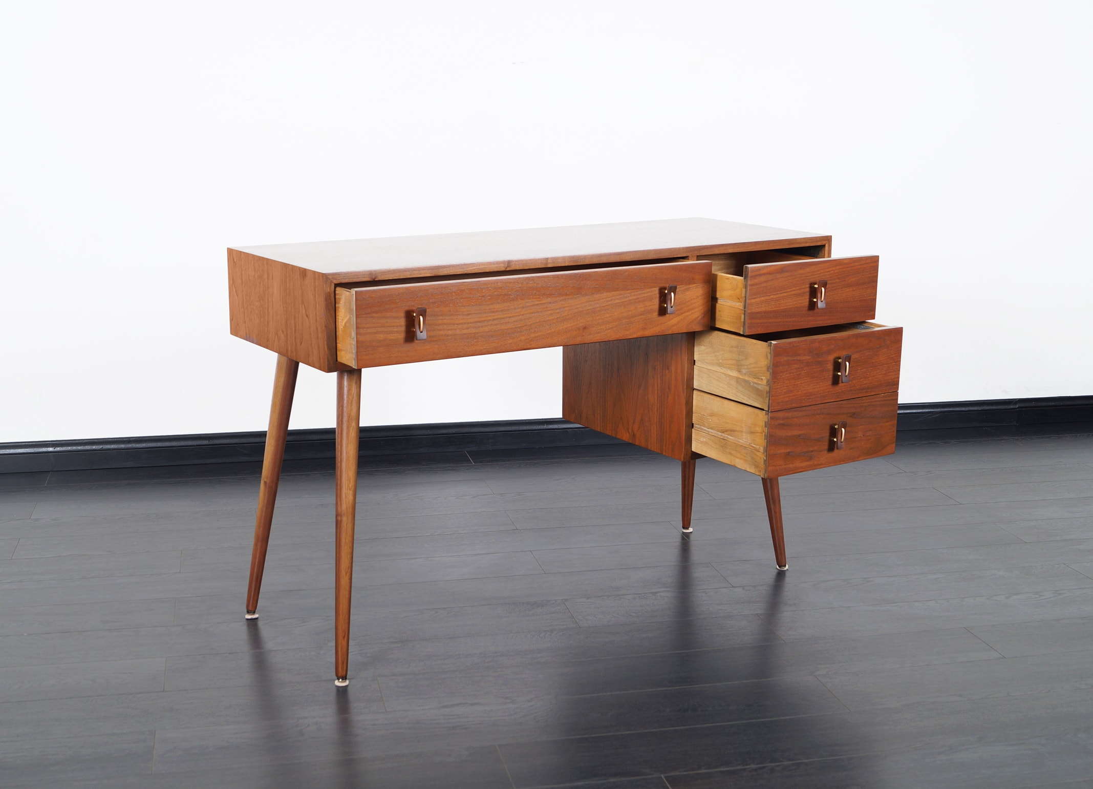 Vintage Walnut Desk by Stanley Young