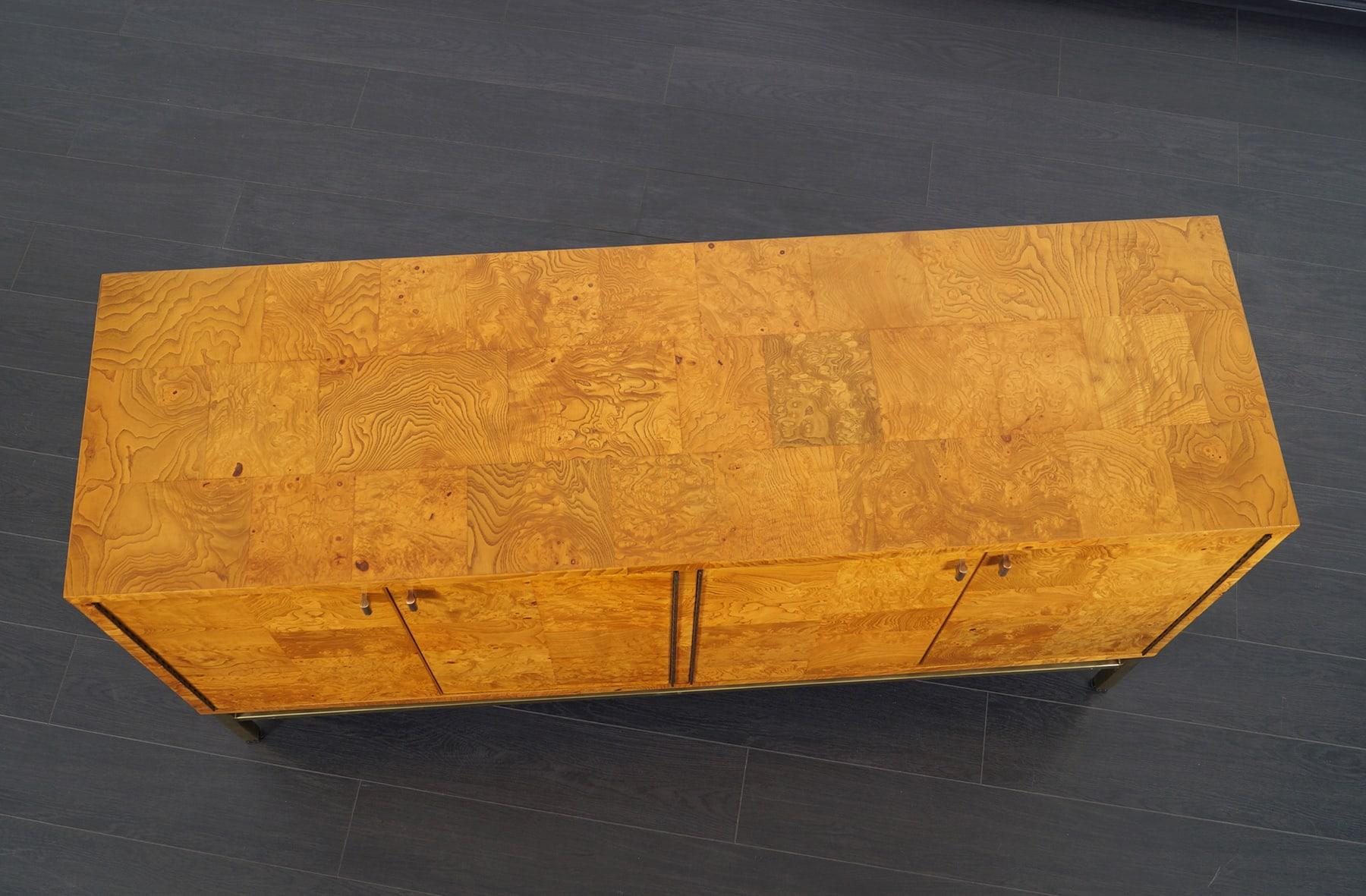 Vintage Burl Wood Credenza