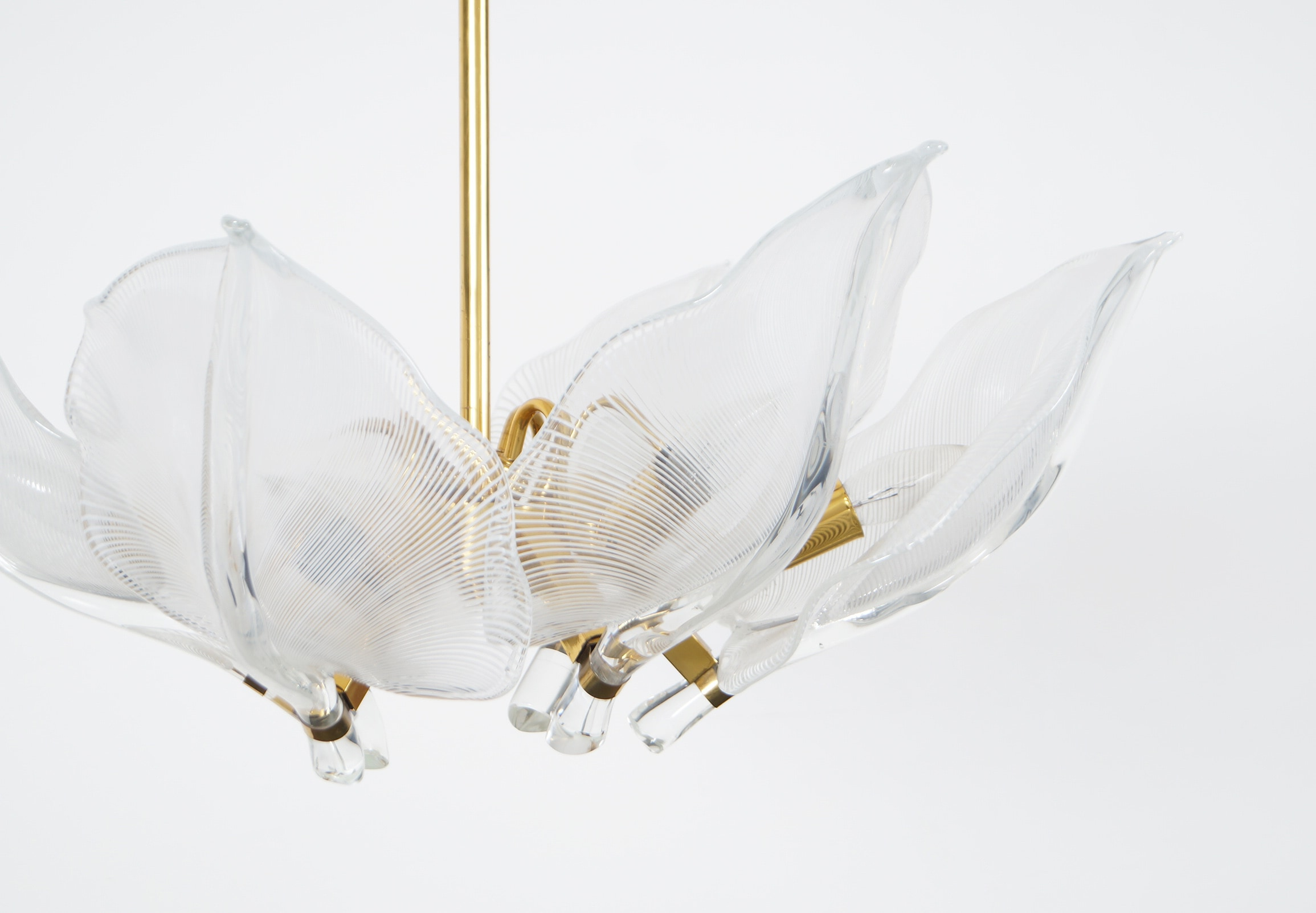 Vintage Murano Leaf Chandelier by Franco Luce
