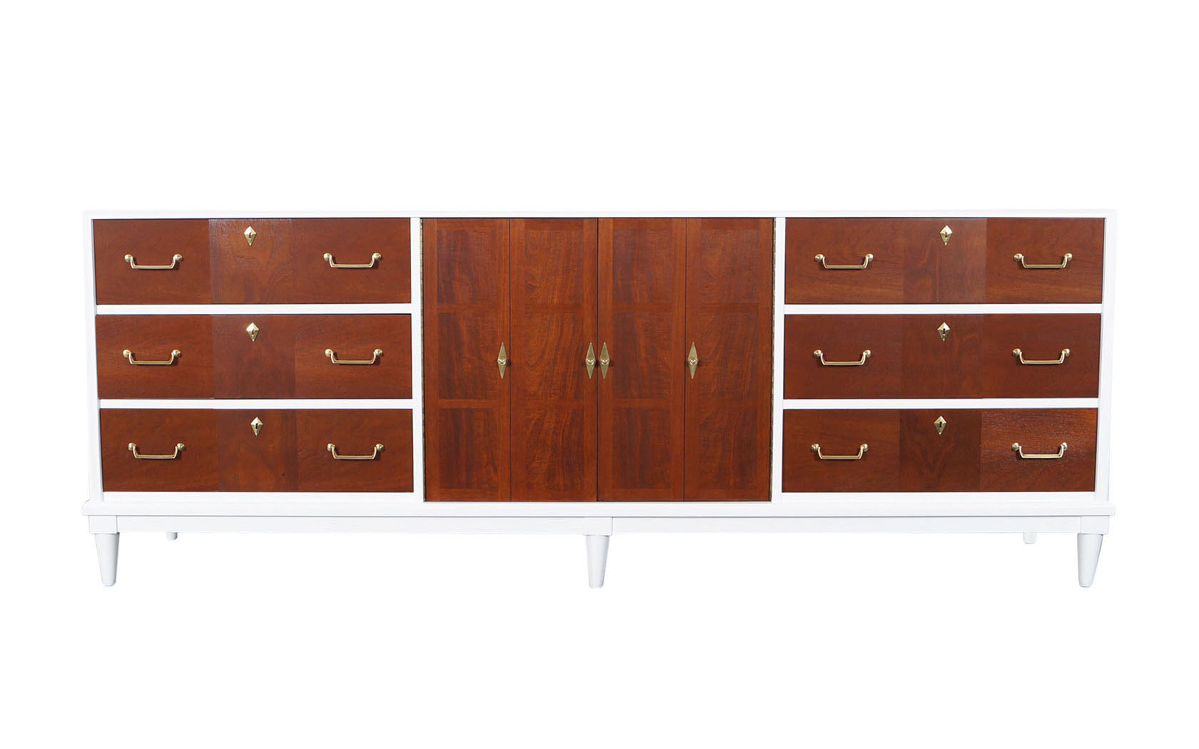 Vintage Two Tone Credenza by American of Martinsville
