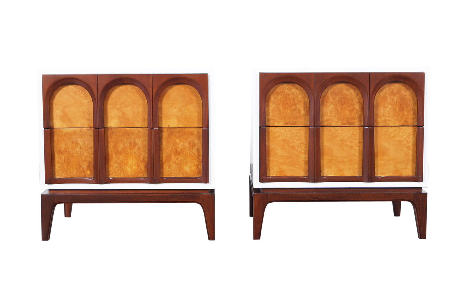 Mid Century Modern Walnut Nightstands by Thomasville