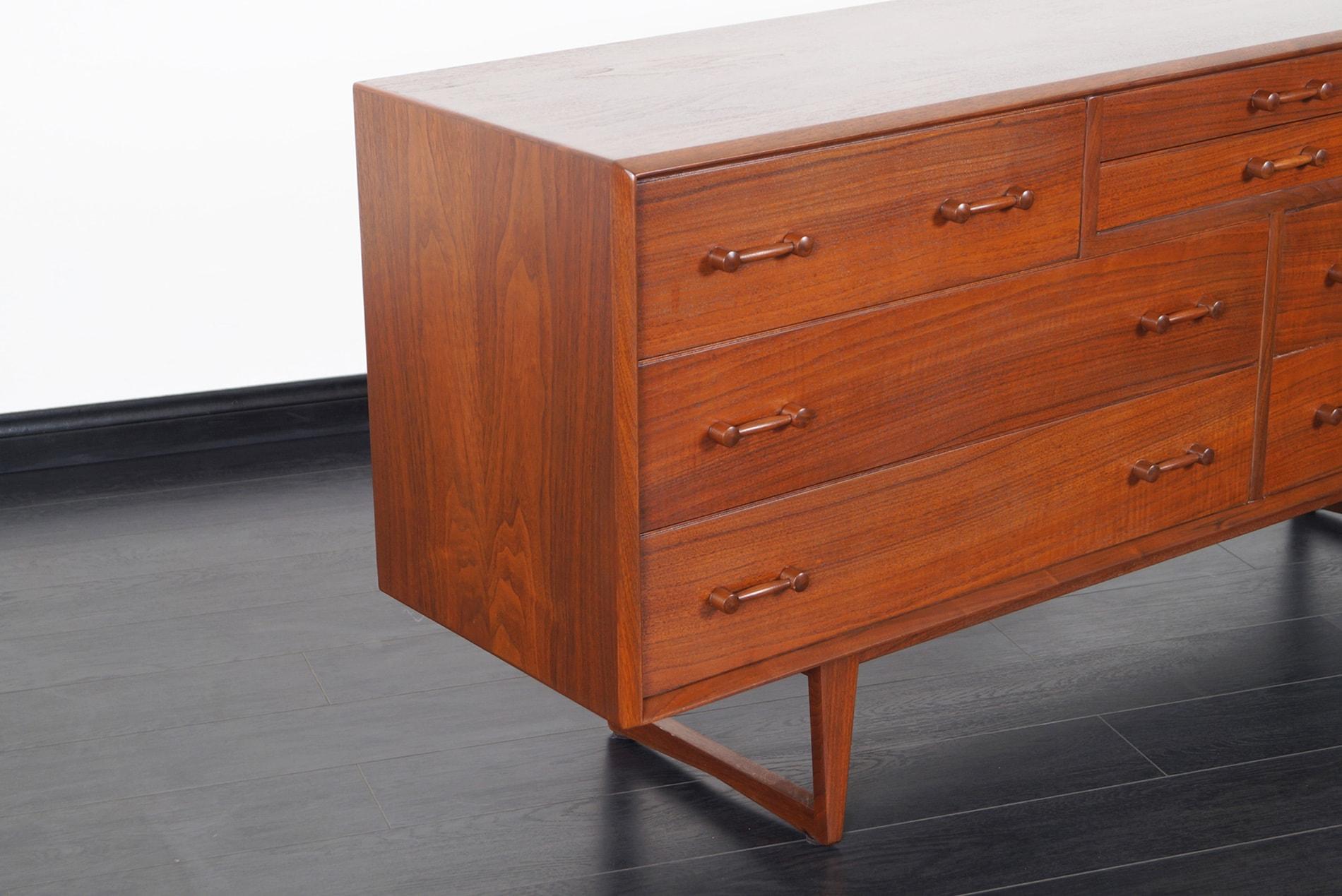 Danish Modern Walnut Dresser