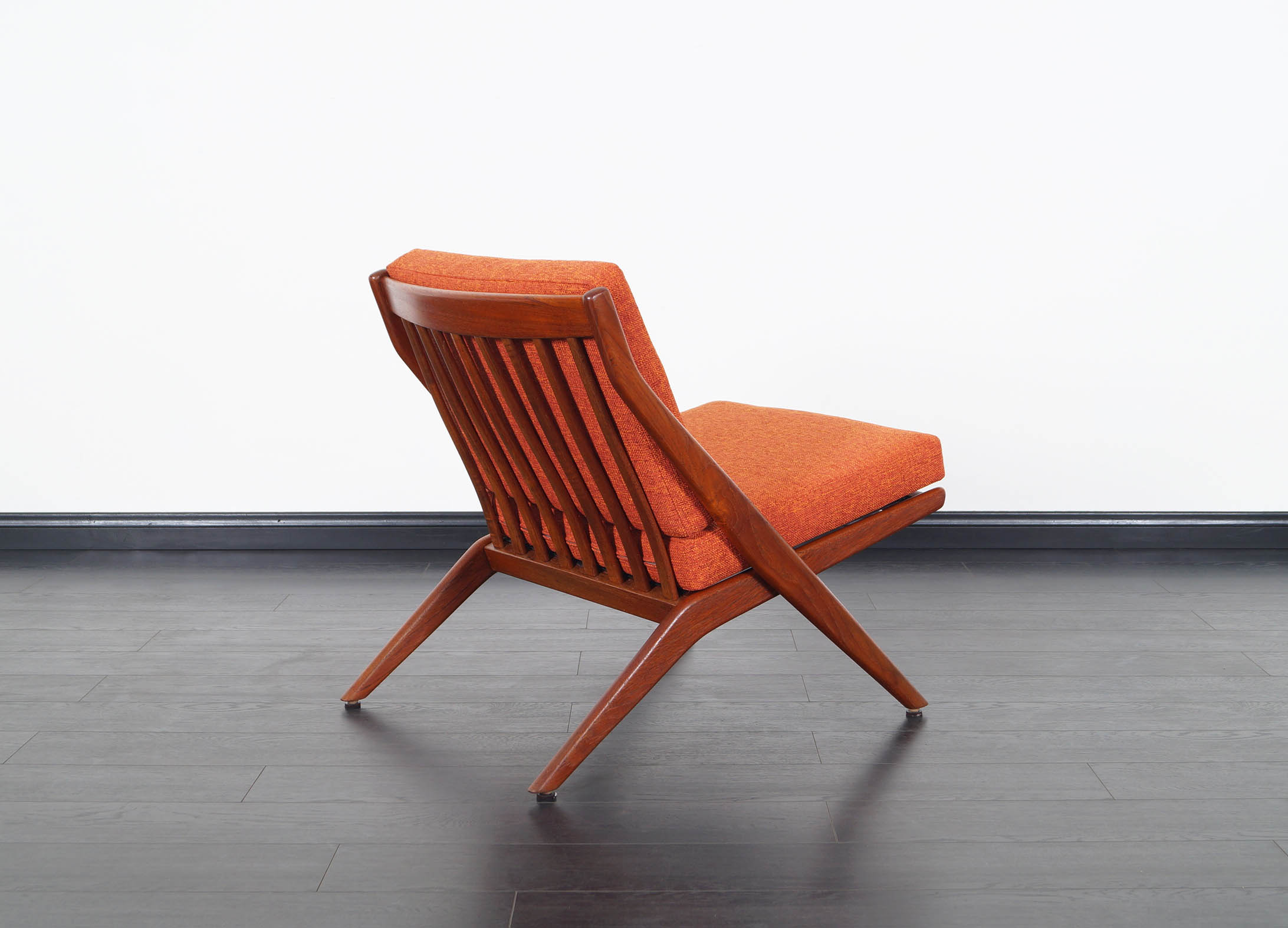 Vintage Teak Scissor Lounge Chairs by Folke Ohlsson for Dux