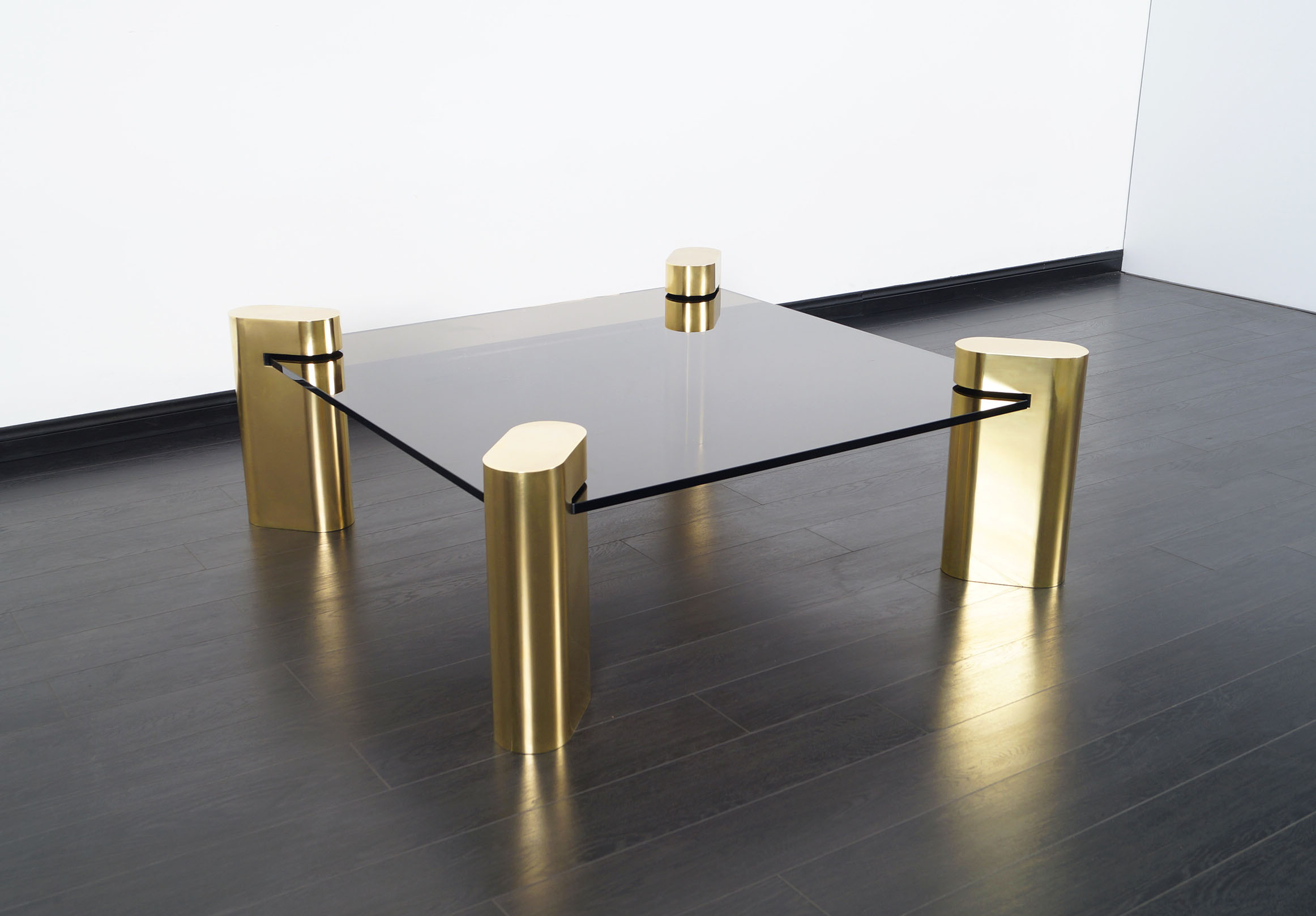 Exceptional Vintage Brass Coffee Table by Karl Springer