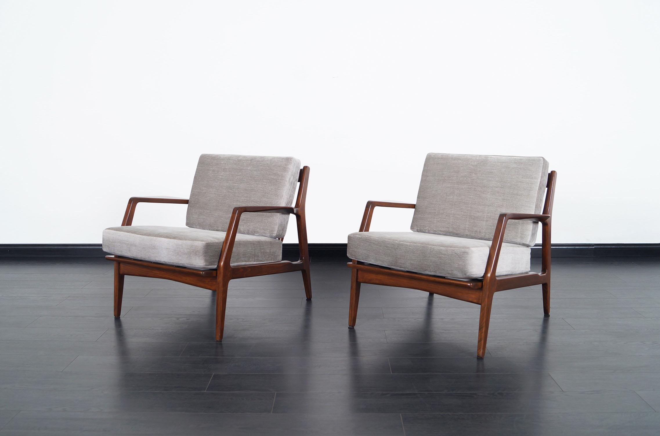 Mid Century Modern Lounge Chairs by Ib Kofod Larsen
