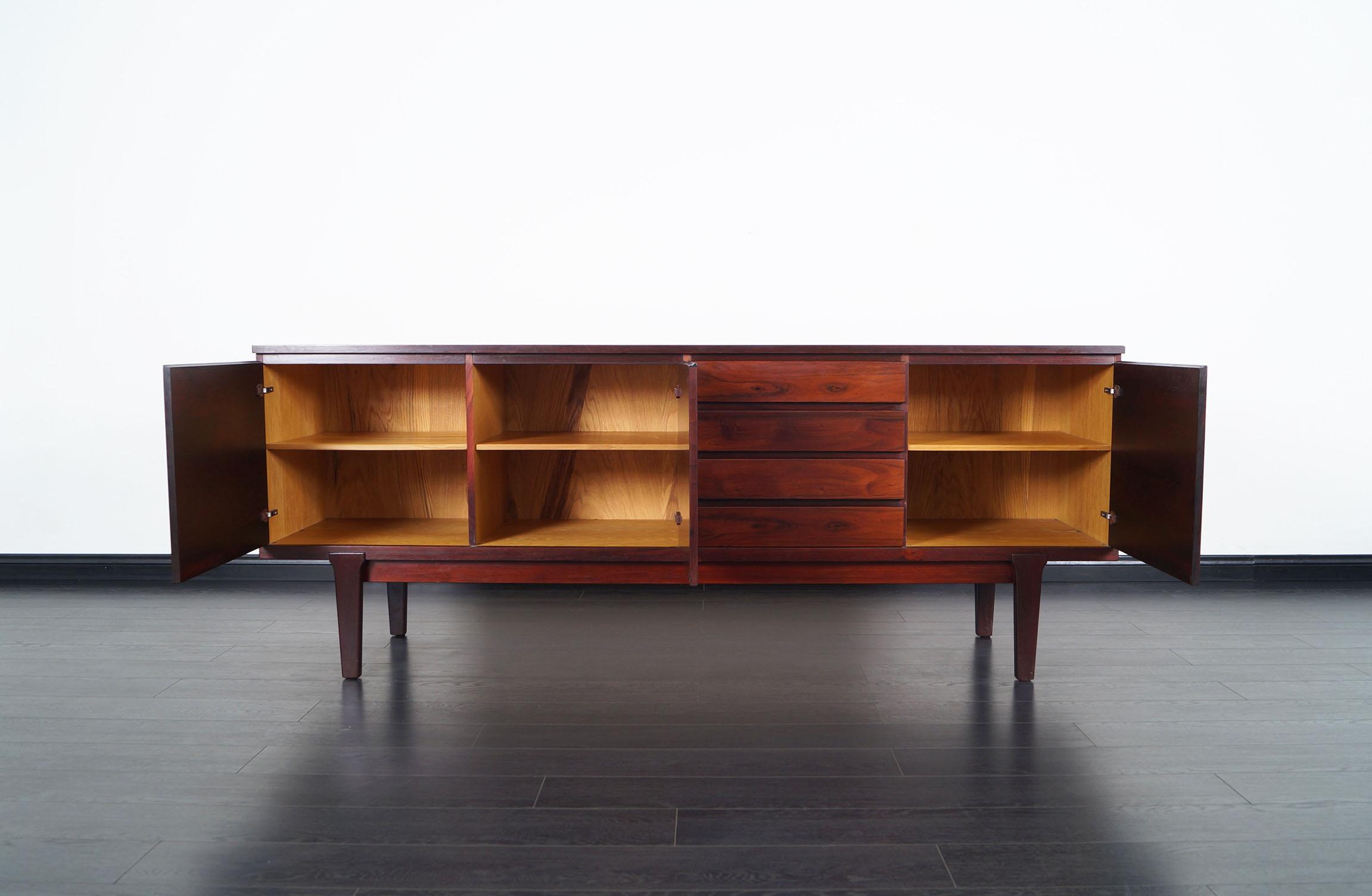 Danish Modern Rosewood Sideboard