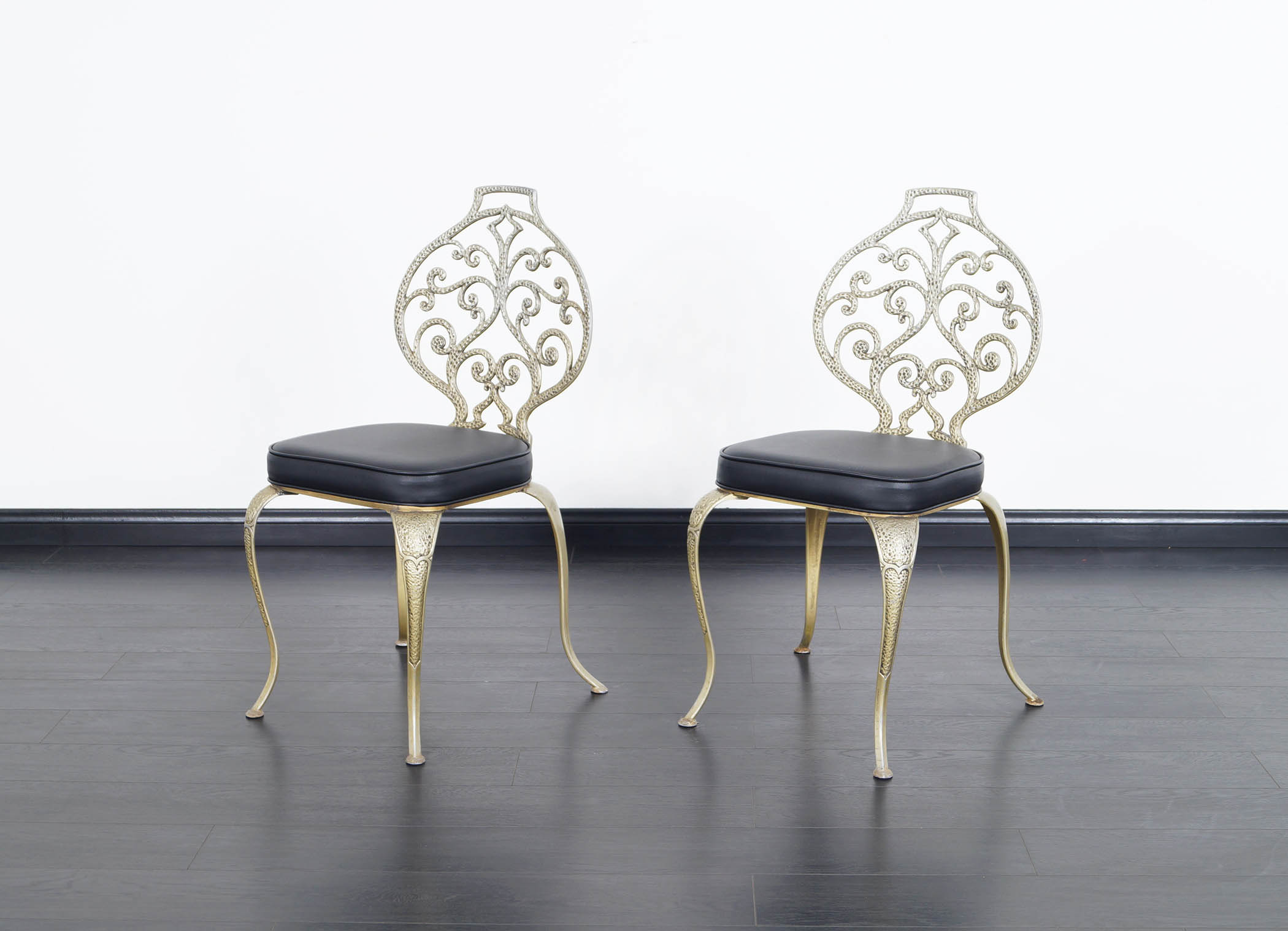 Vintage Aluminum Dining Chairs by Thinline