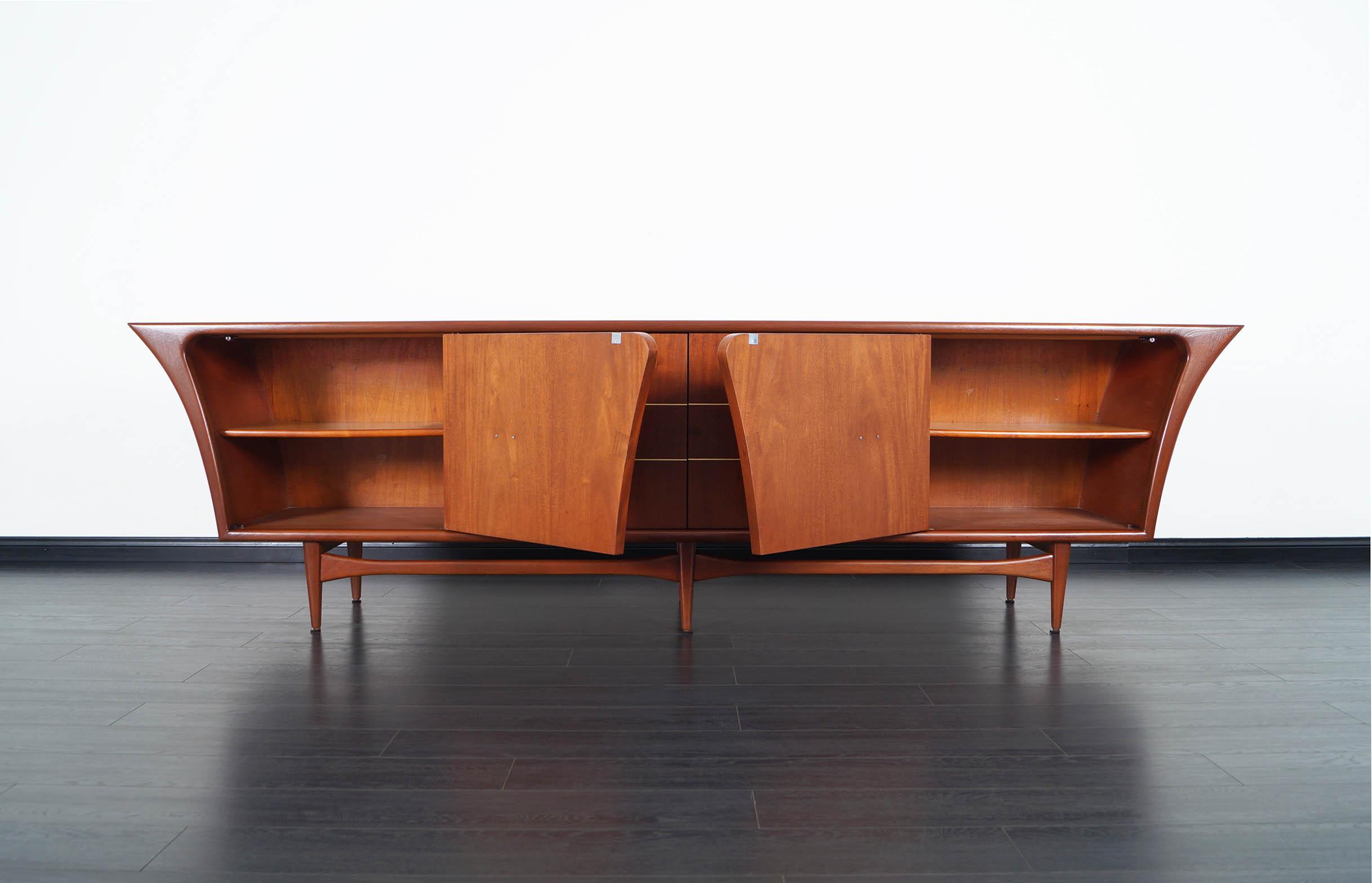 Mexican Modernist Credenza by Eugenio Escudero