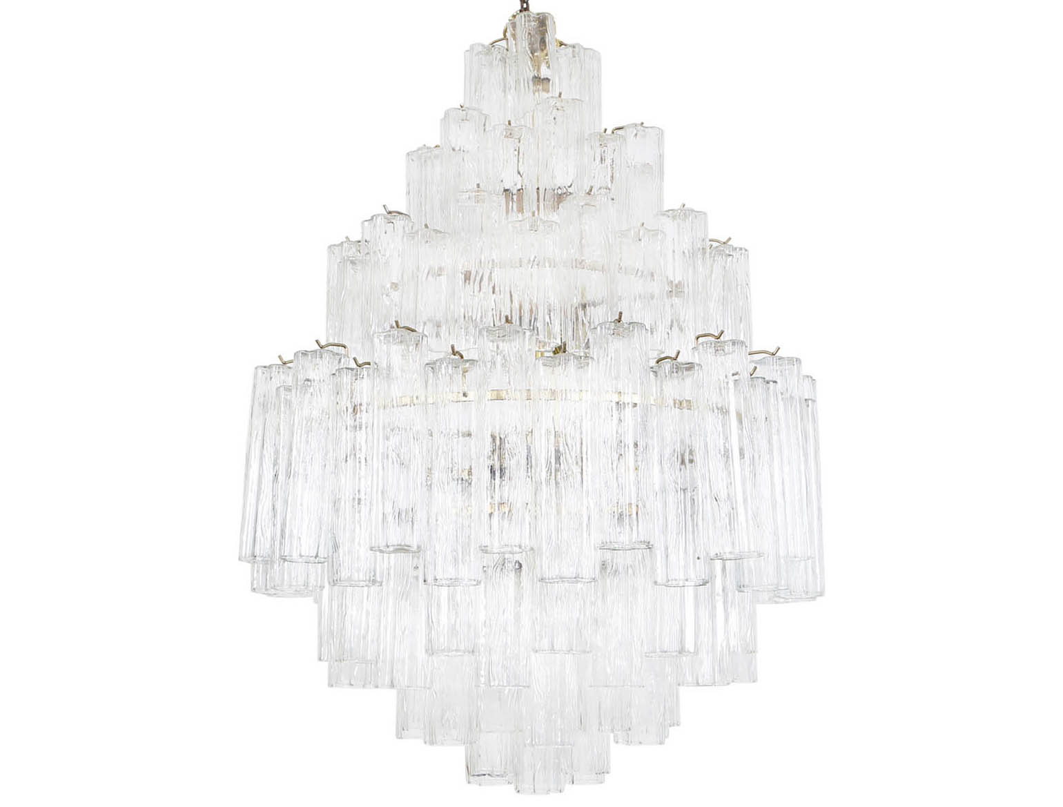 Vintage Italian Tronchi Glass Chandelier by Venini