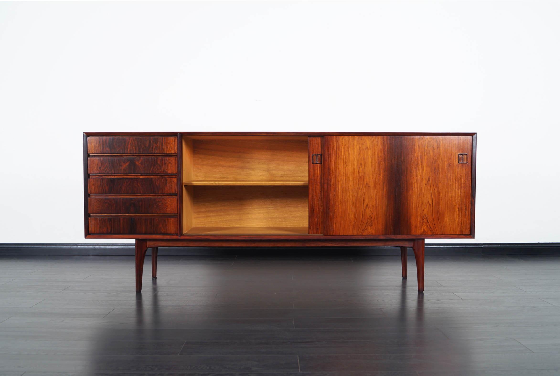 Danish Modern Rosewood Credenza by Oddense Maskinsnekeri