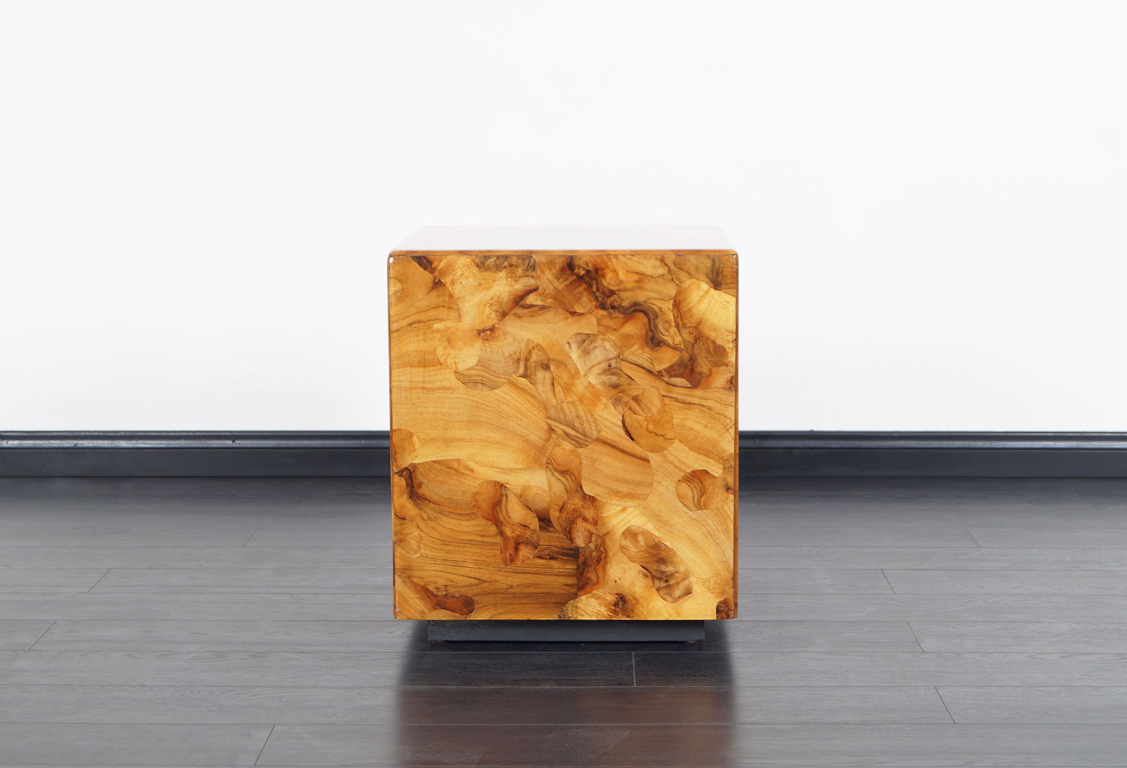 Vintage Burl Wood Side Table by Pace Collection