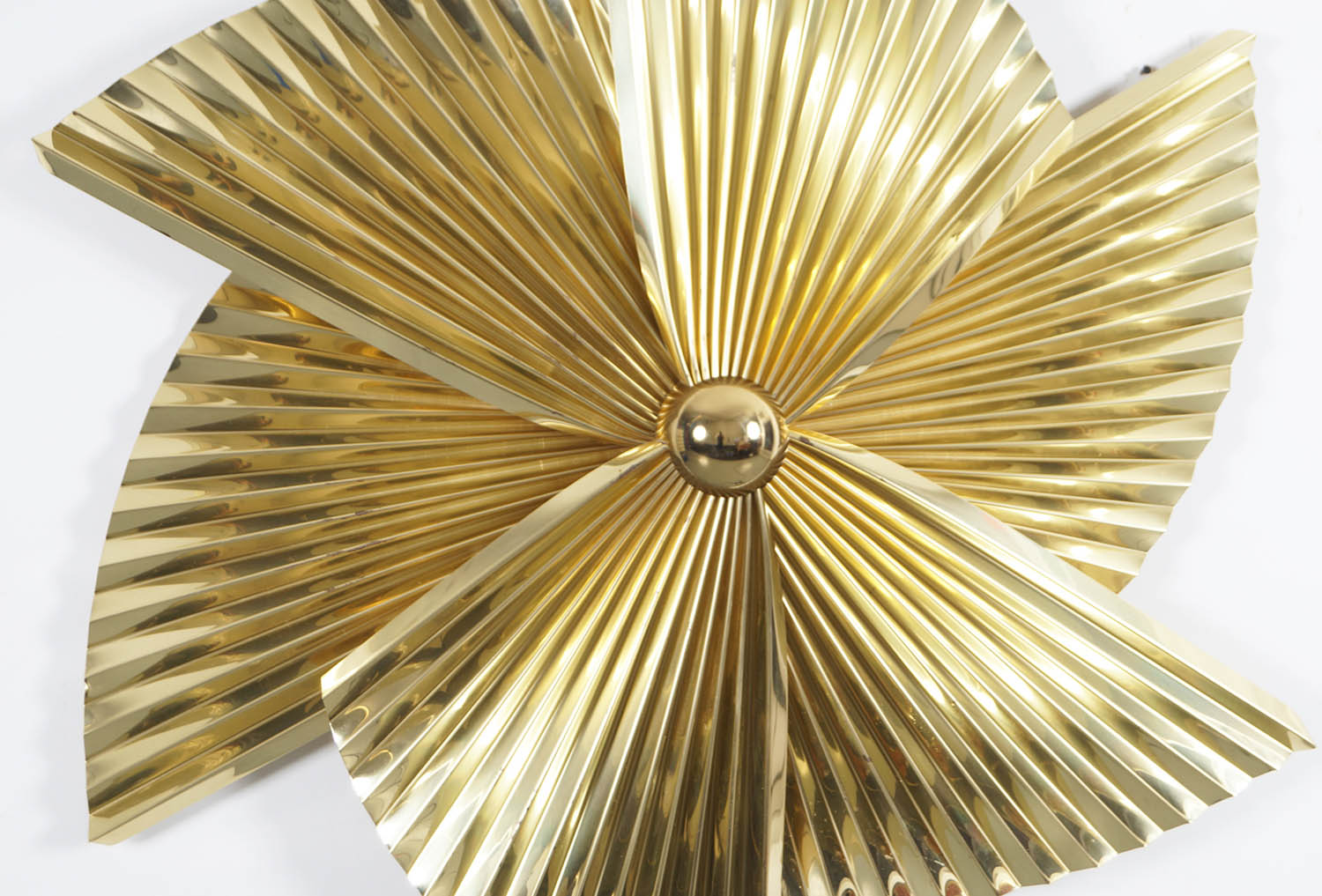 Vintage Brass Pinwheel Wall Sculpture by Curtis Jere