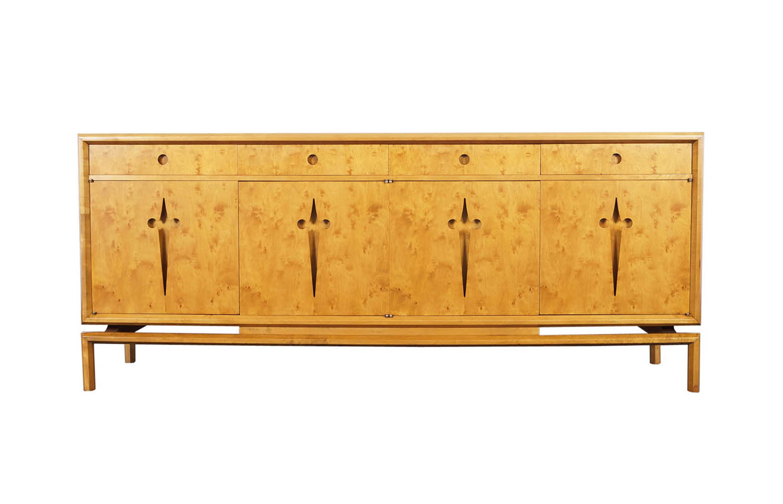 Vintage Maple Burl Credenza by Edmond Spence