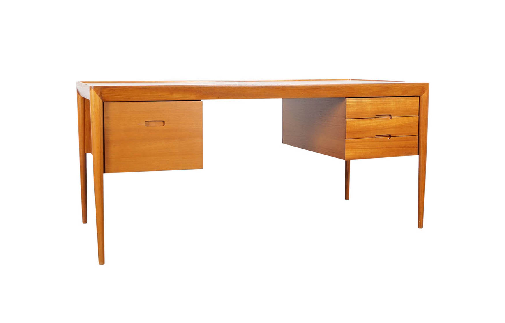 Danish Teak Desk by Erik Riisager Hansen