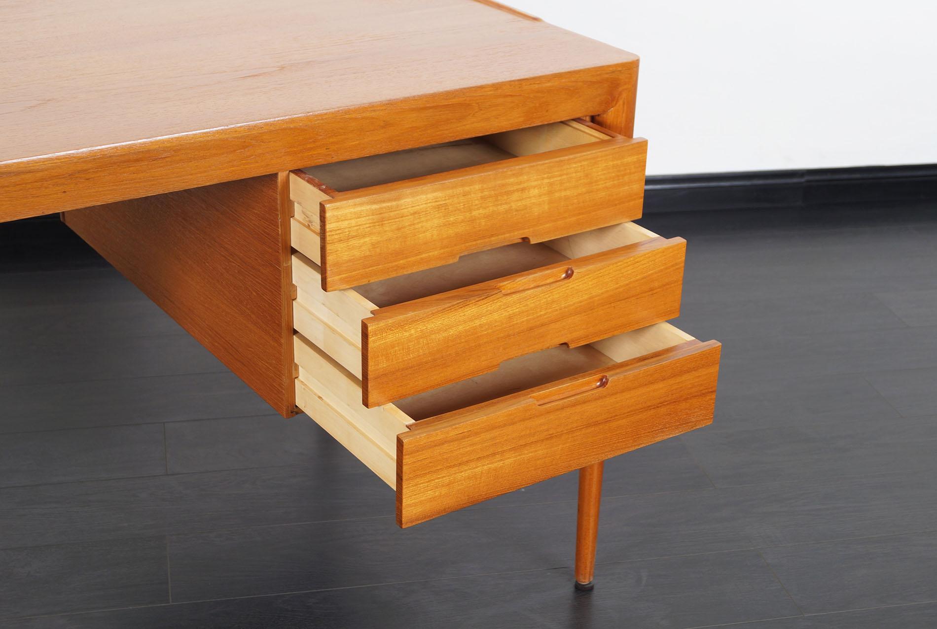 Danish Teak Desk by Erik Riisager Hansen
