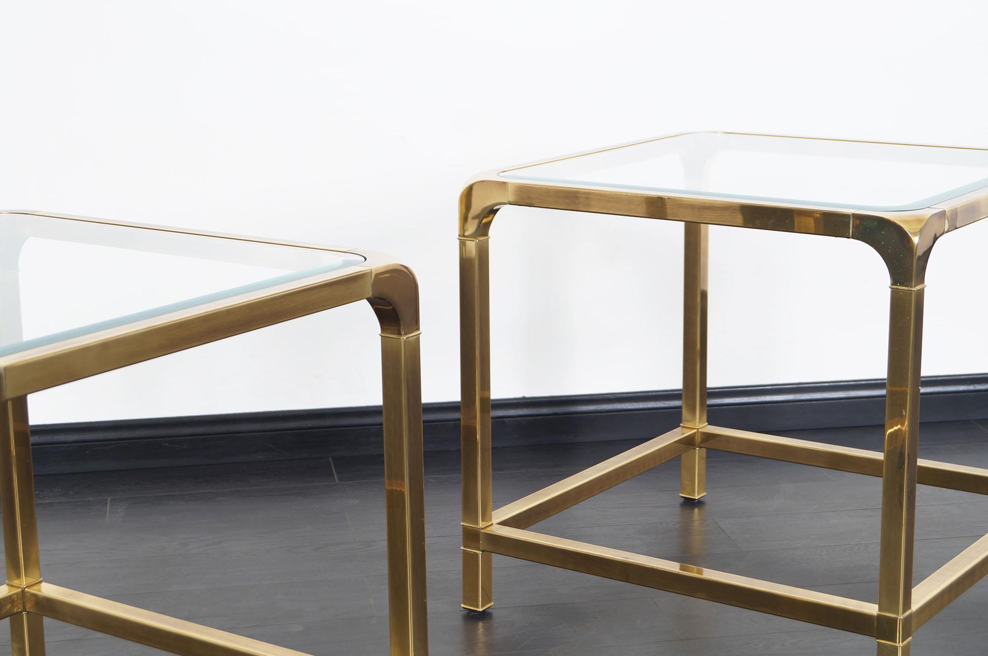 Vintage Brass Side Tables by Mastercraft