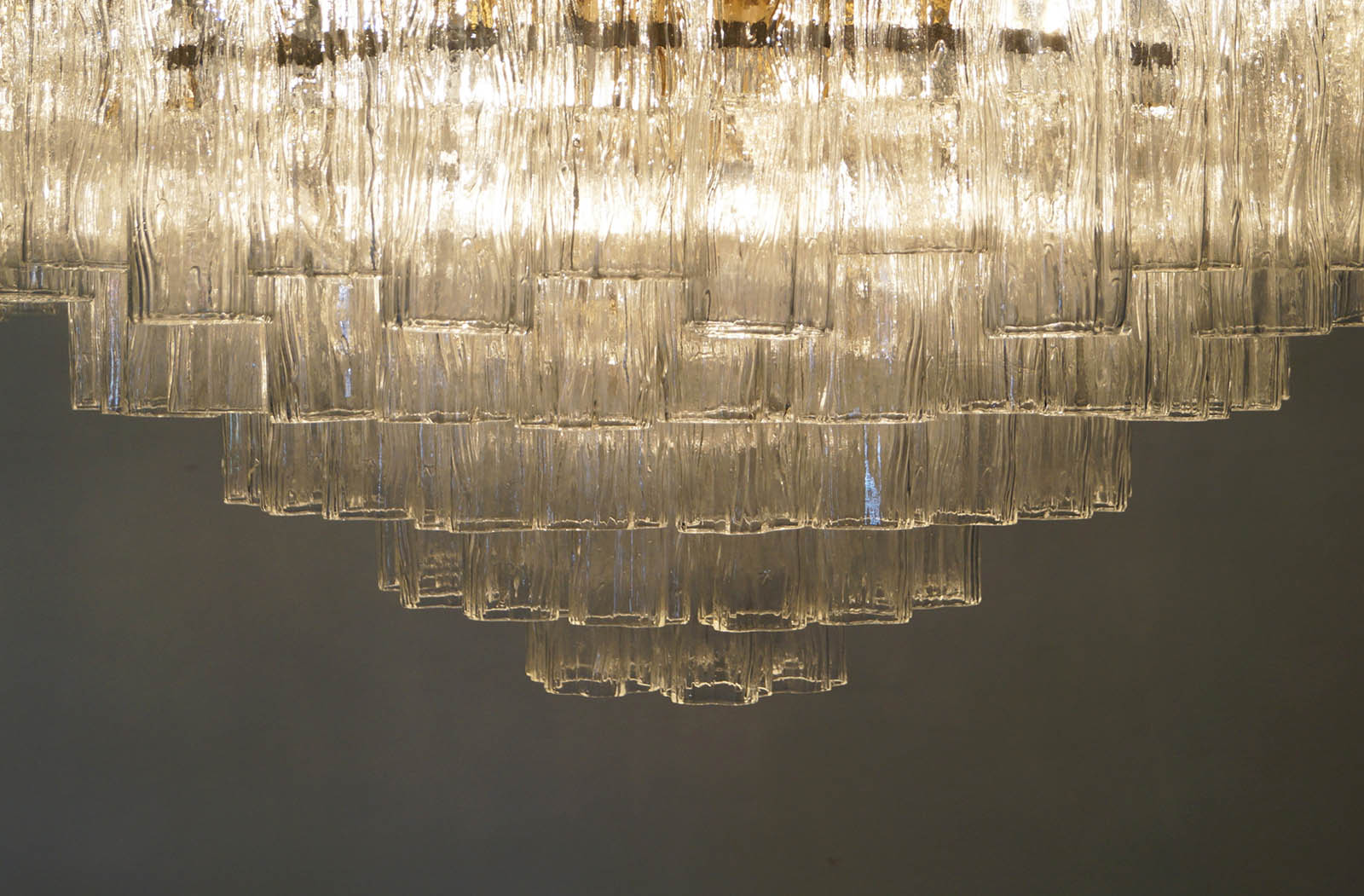 Italian Tronchi Glass Chandelier by Venini