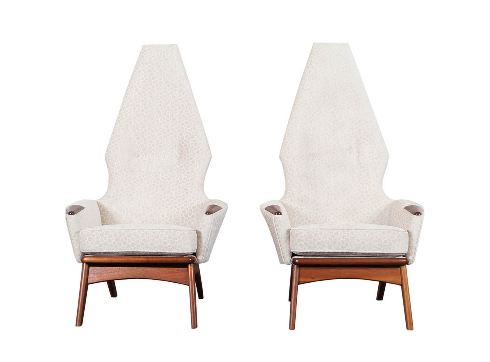 Vintage High Back Lounge Chairs by Adrian Pearsall