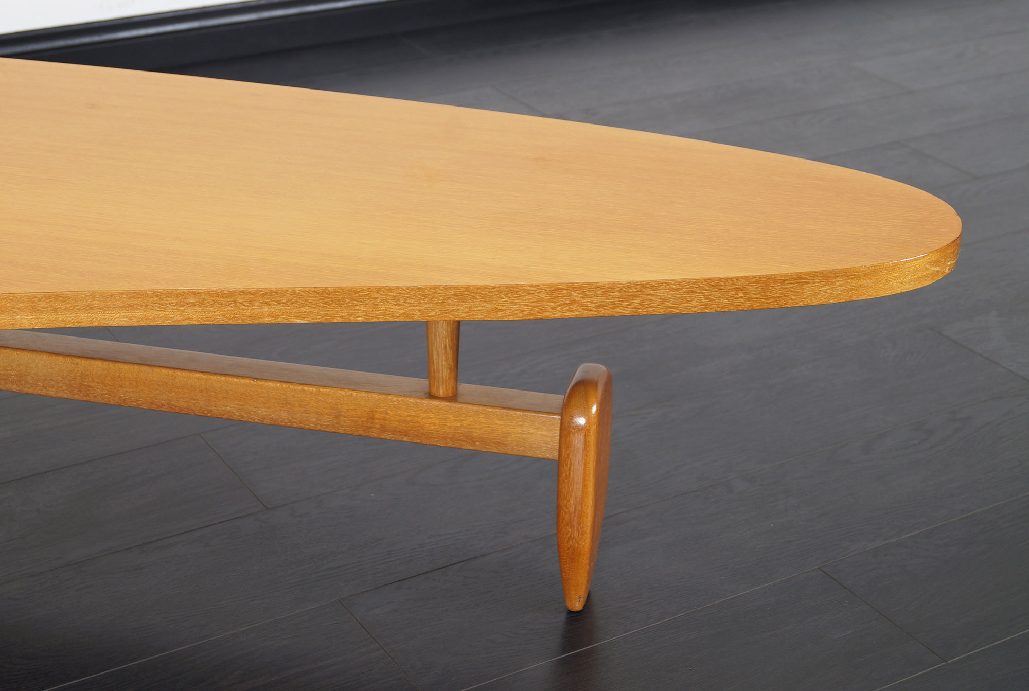 Vintage Outrigger Floating Top Coffee Table by John Keal
