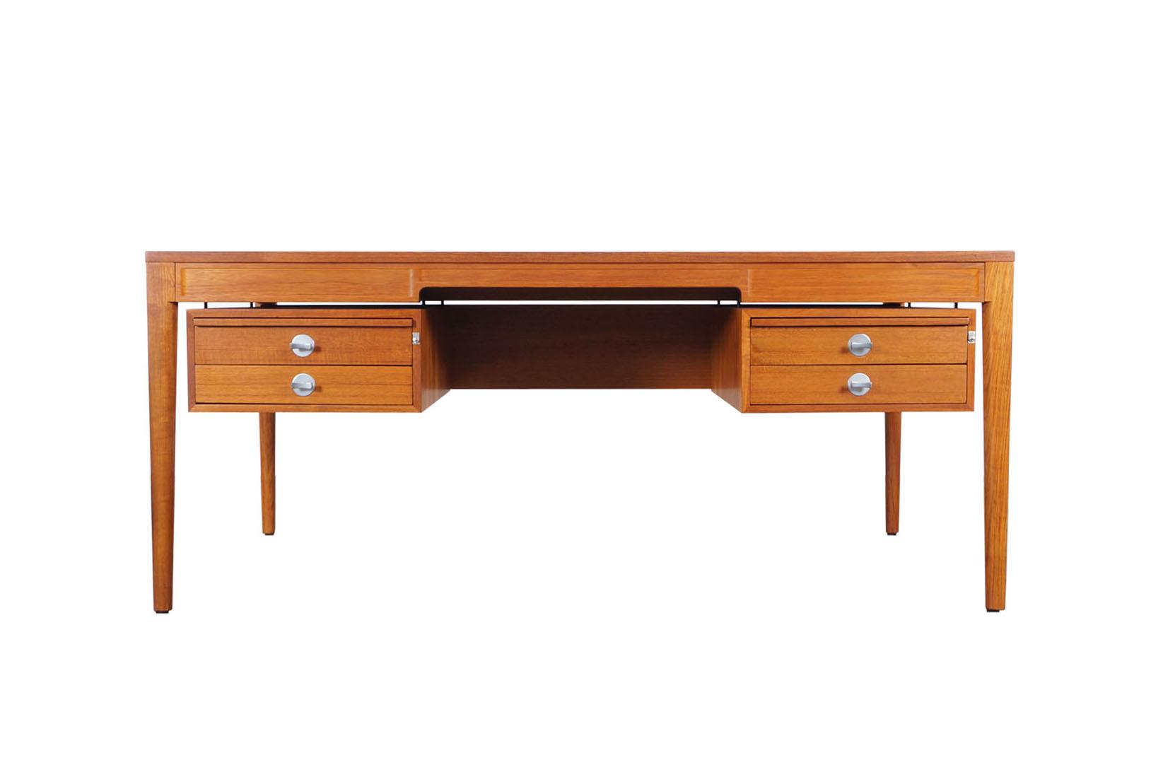 Danish Teak Diplomat Desk by Finn Juhl