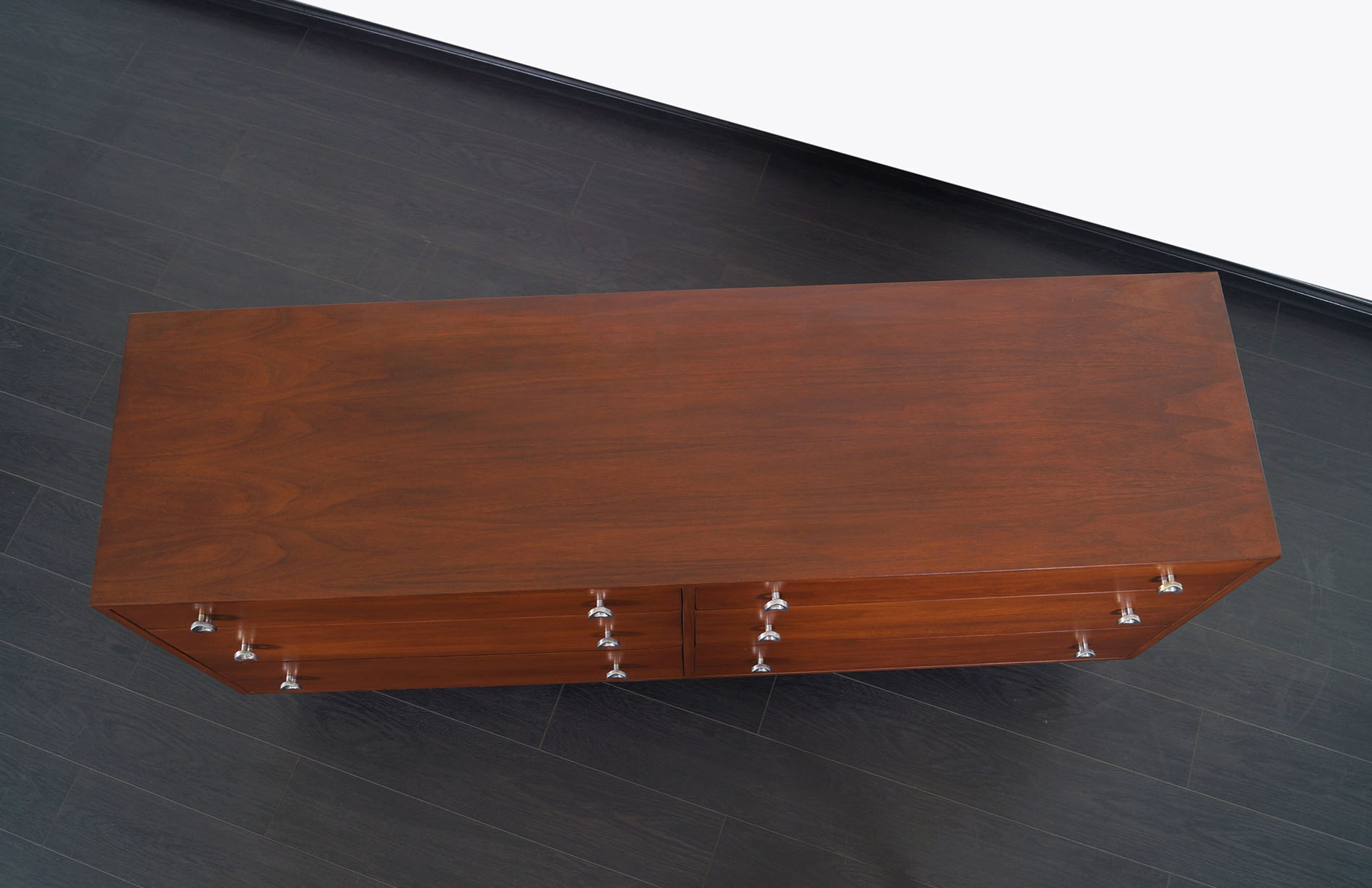 Glenn of California Walnut Dresser by Milo Baughman