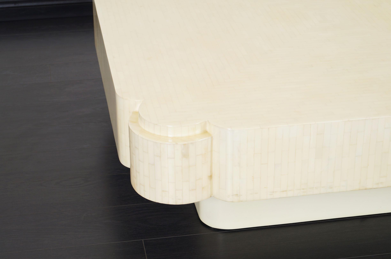 Vintage Tessellated Bone Coffee Table by Enrique Garcel