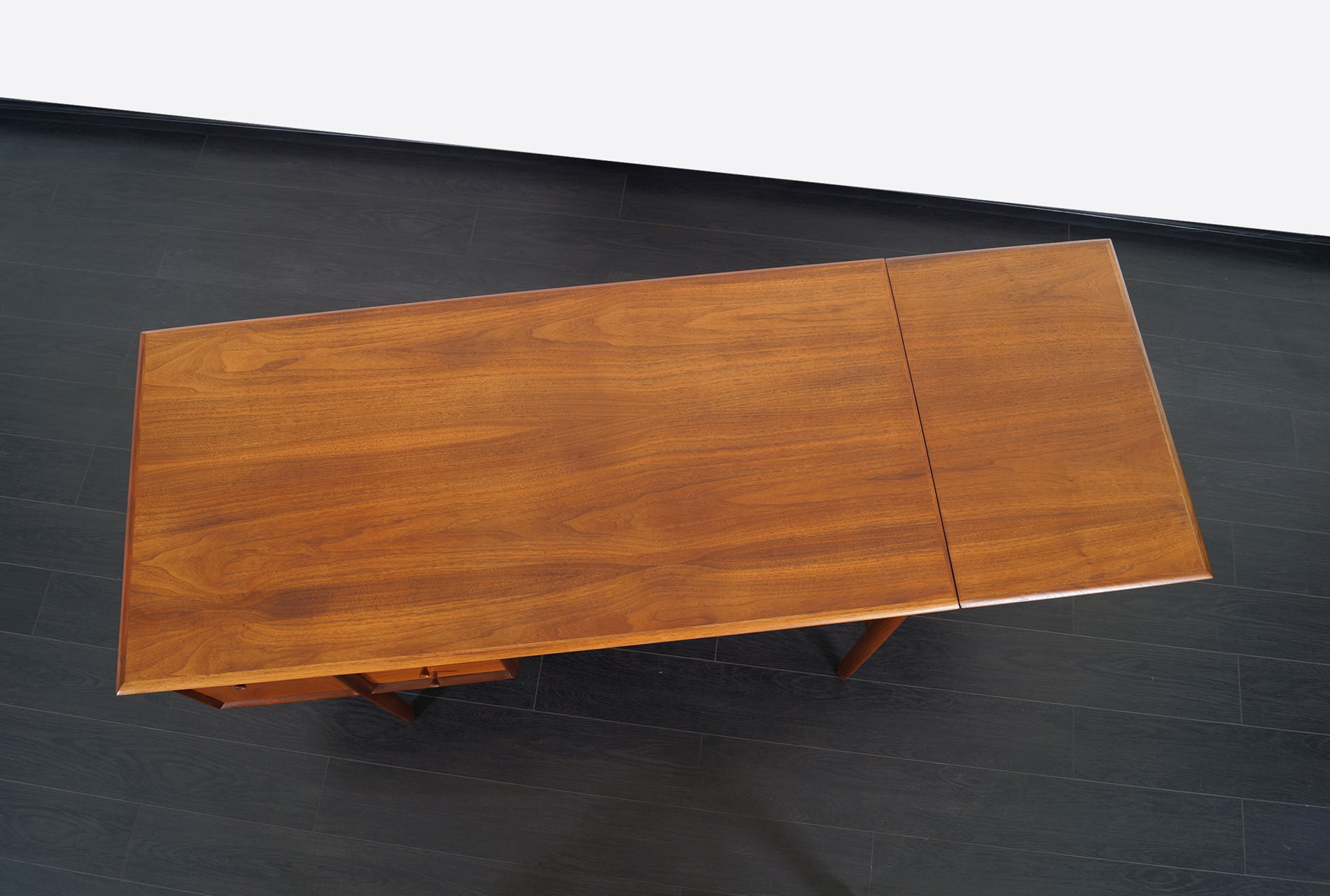 Drexel Walnut Parallel Writing Desk by Barney Flagg