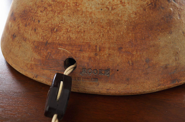 Terracotta Studio Pottery TOTEM Floor Lamp by Bernard Rooke