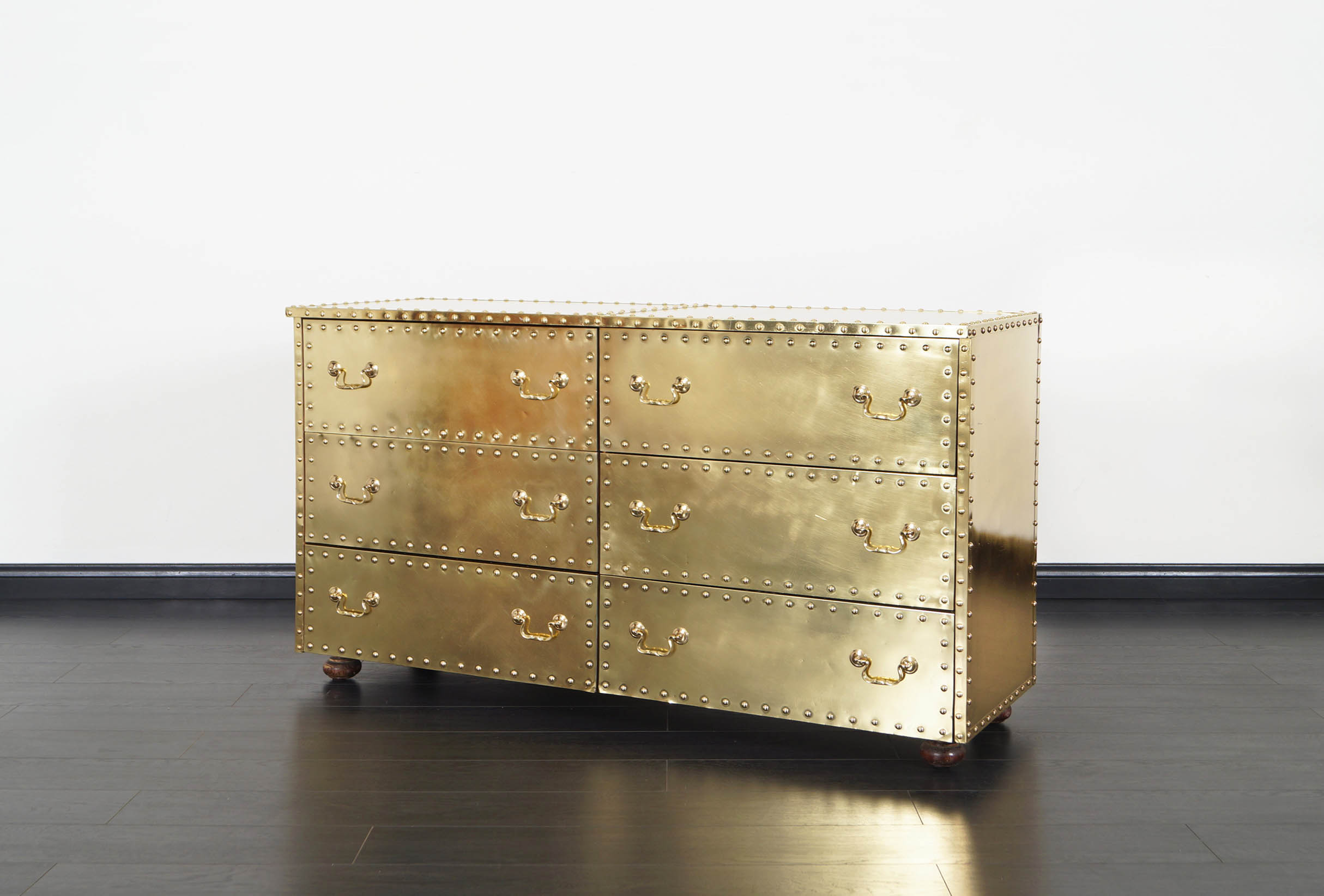 Vintage Brass Dresser by Sarreid