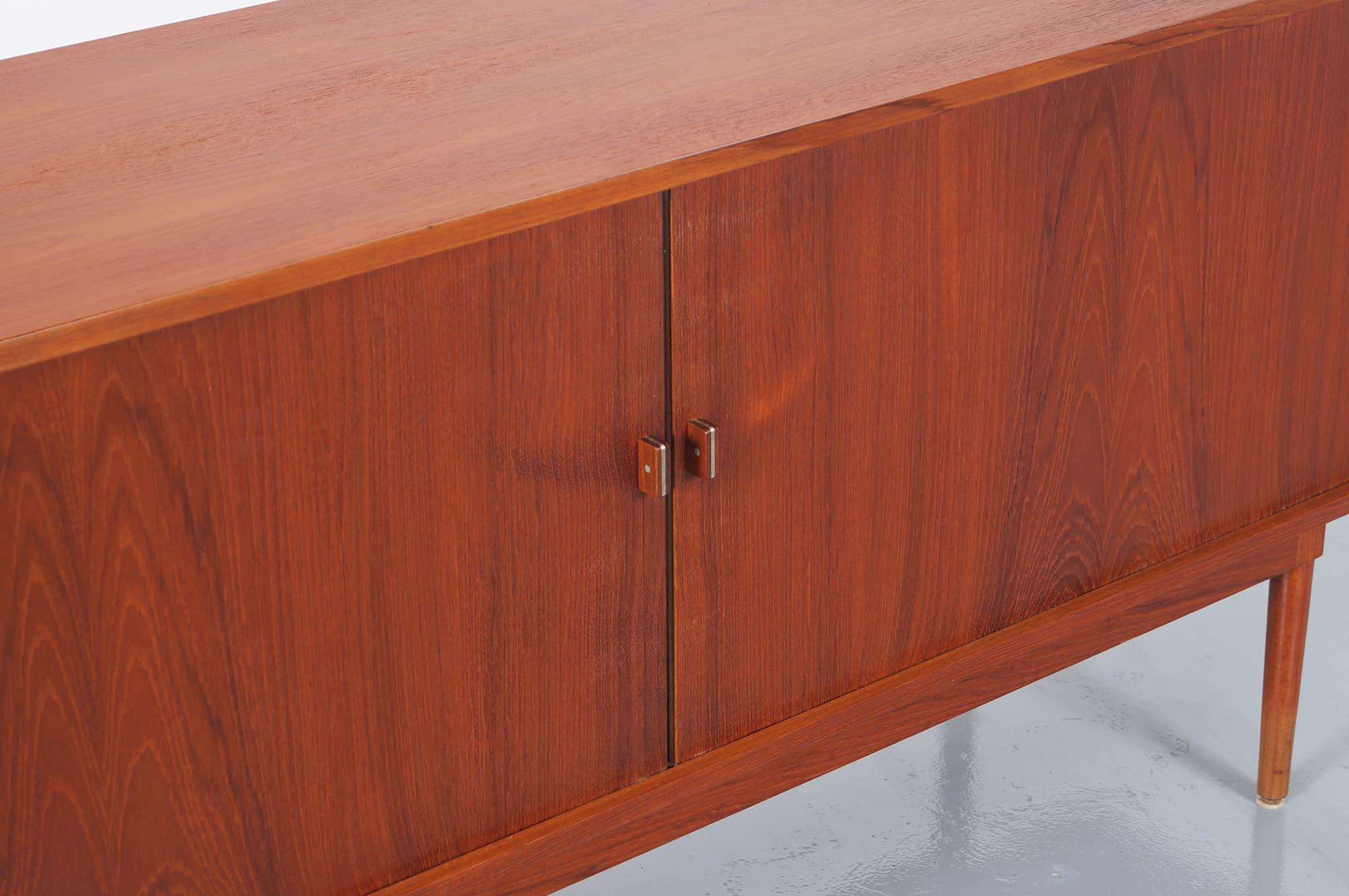 Danish Modern Tambour Door Credenza by Jens H. Quistgaard