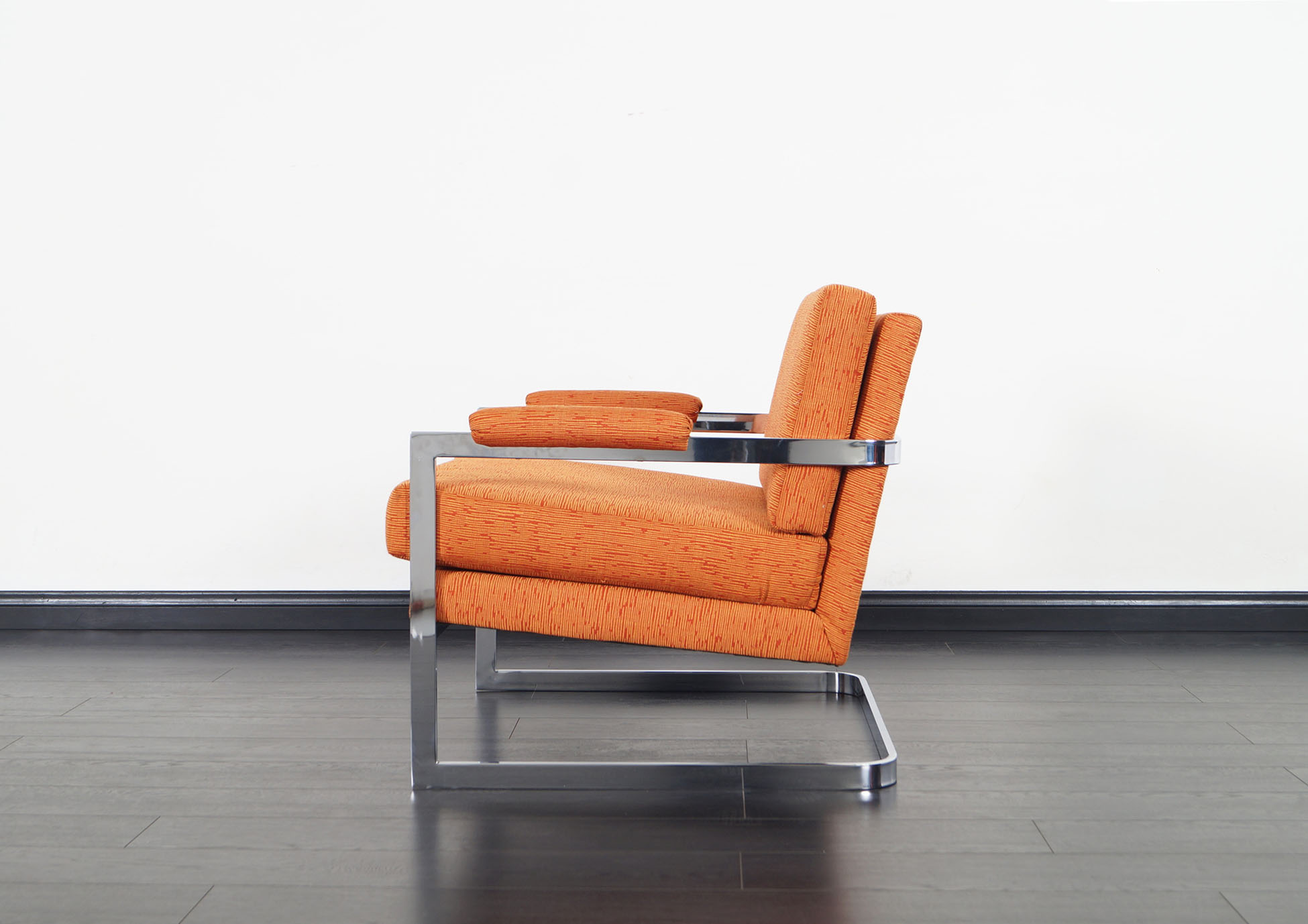 Vintage Chrome Lounge Chairs