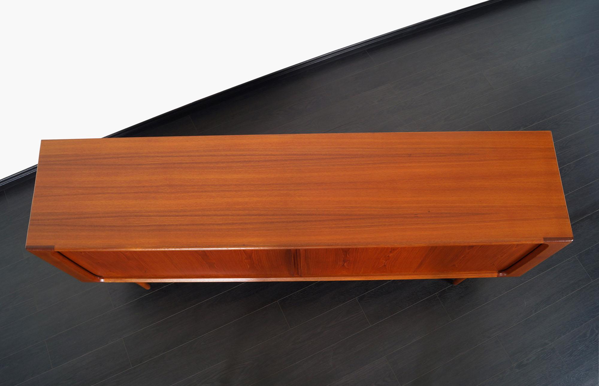 Danish Modern Tambour Door Credenza by Bernhard Pedersen & Son
