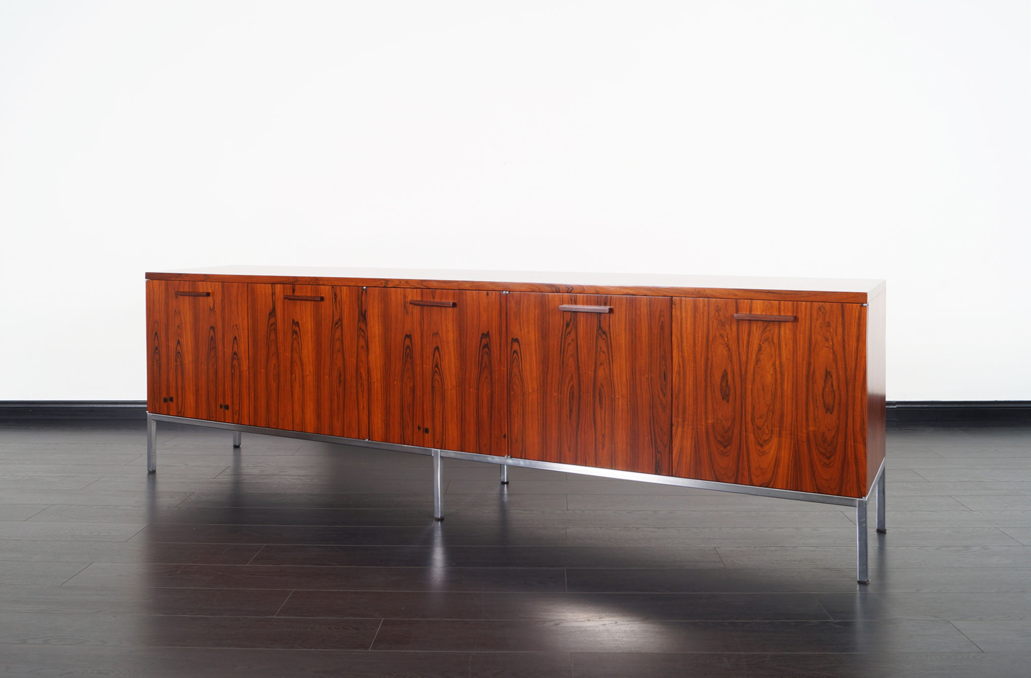 Vintage Rosewood Credenza Attributed to Florence Knoll