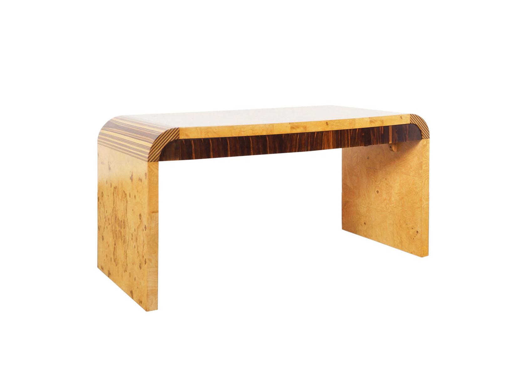 Vintage Burl Wood Desk by Henredon