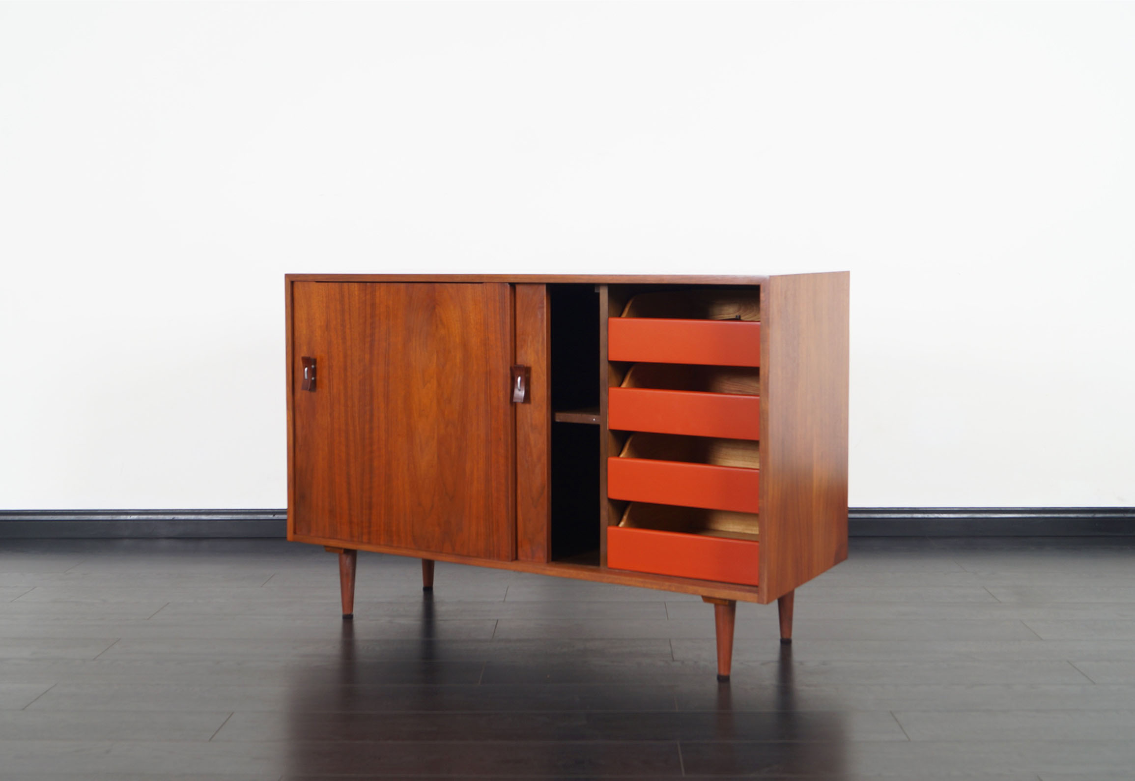 Vintage Walnut Sideboard by Stanley Young