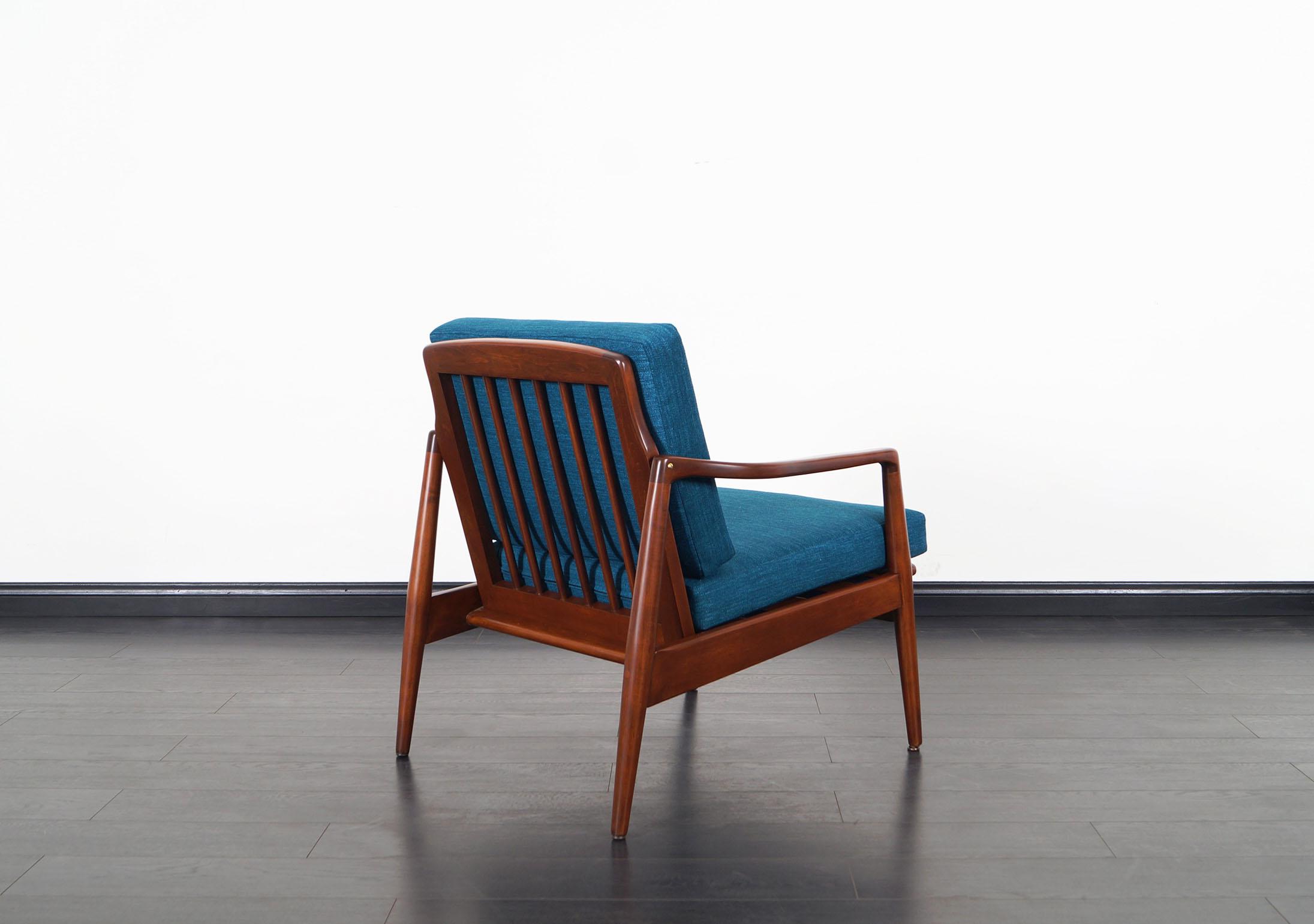 Mid Century Modern Walnut Lounge Chairs